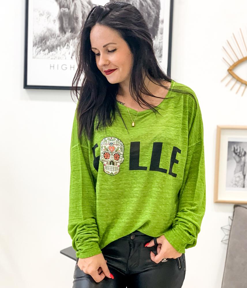 T-shirt FOLLE vert