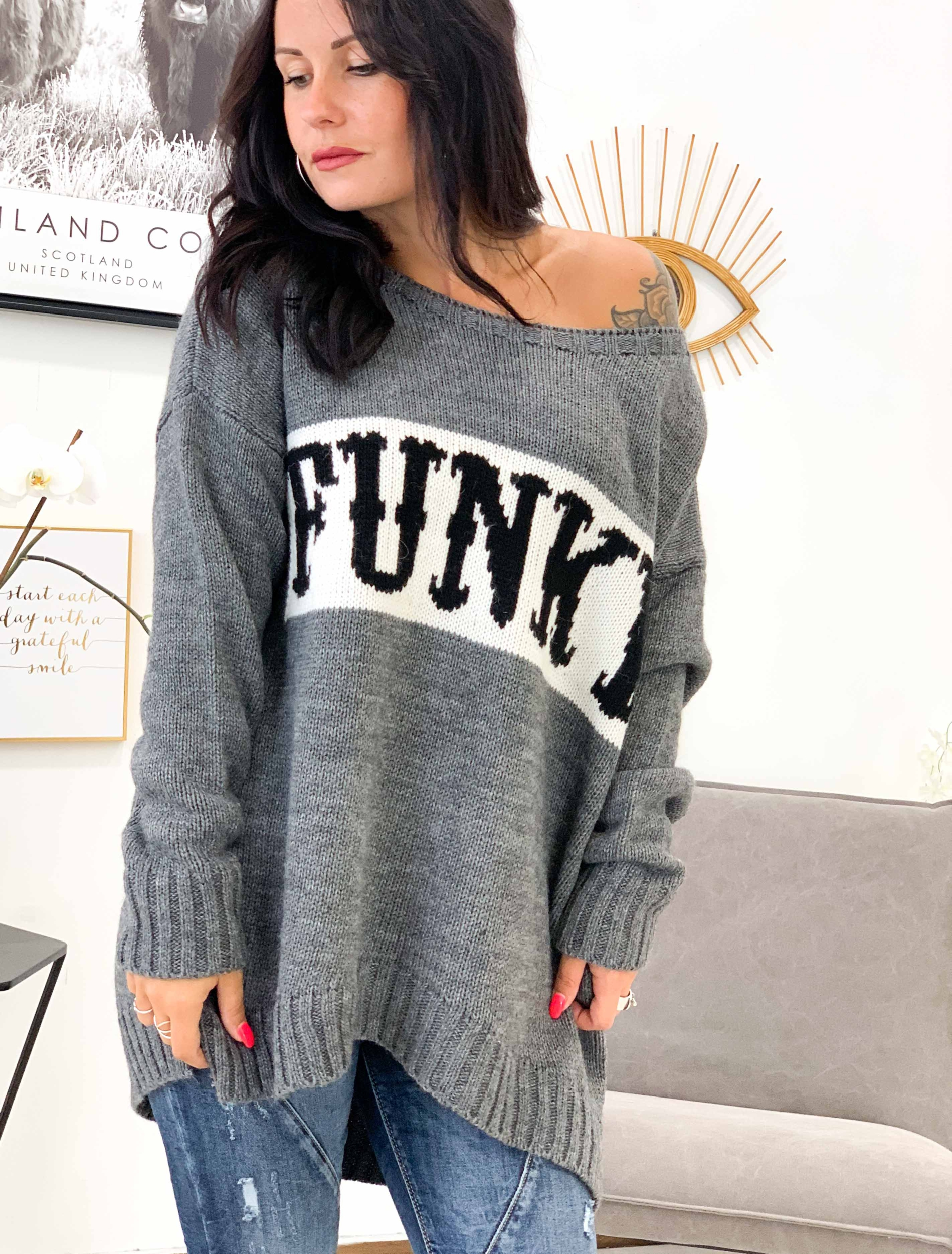 Pull FUNKY gris