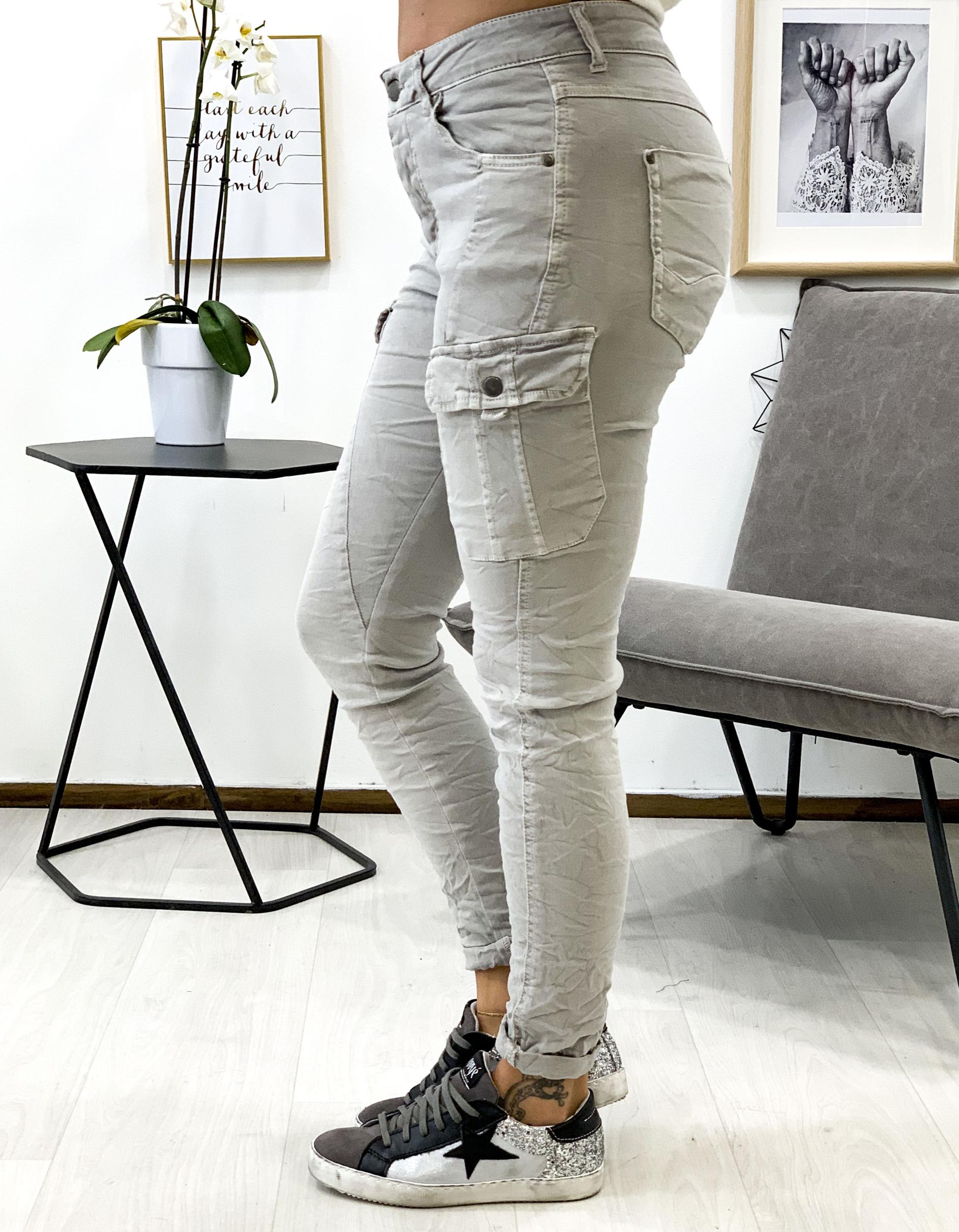 Pantalon NATHAN gris perle