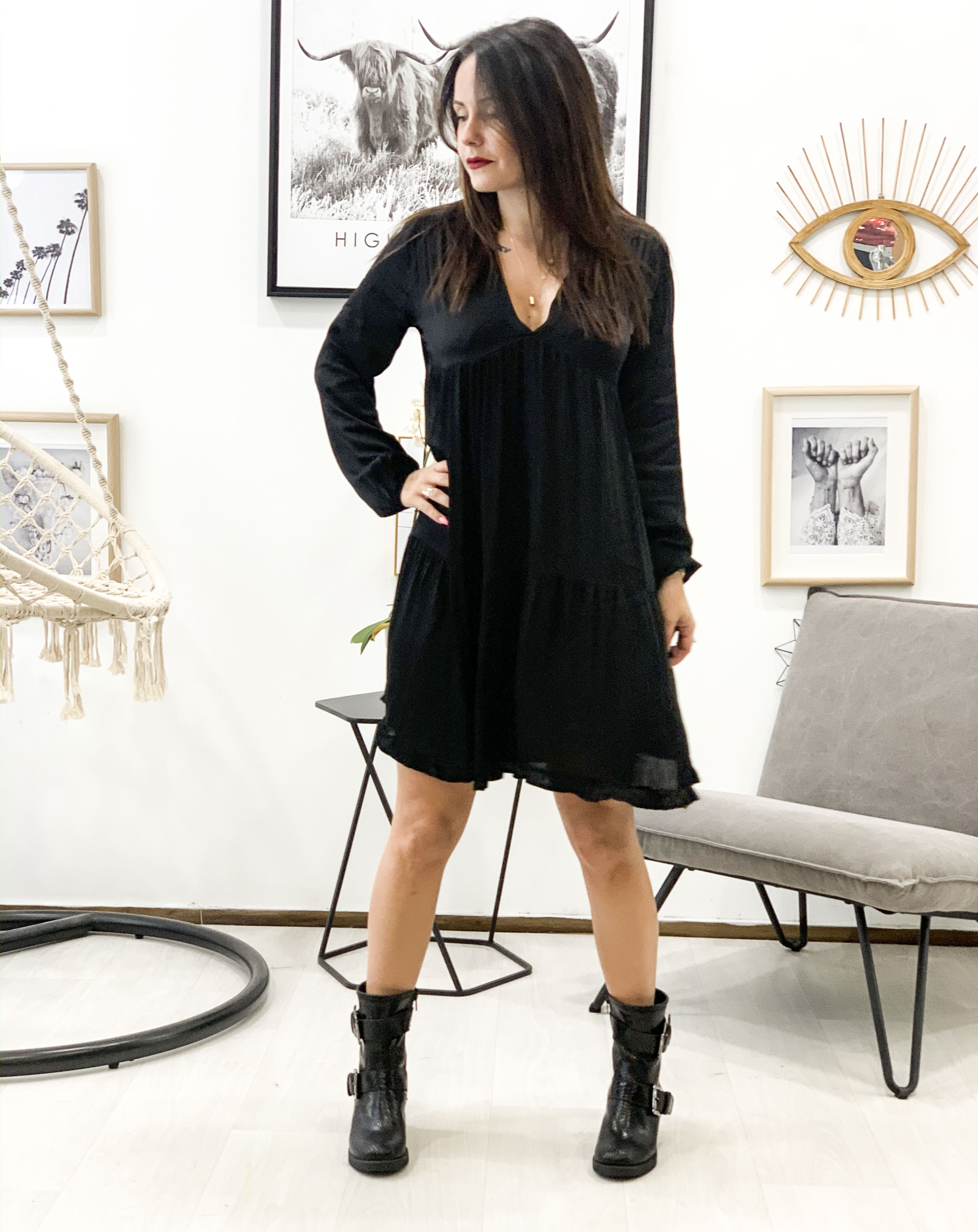 Robe TINA noir