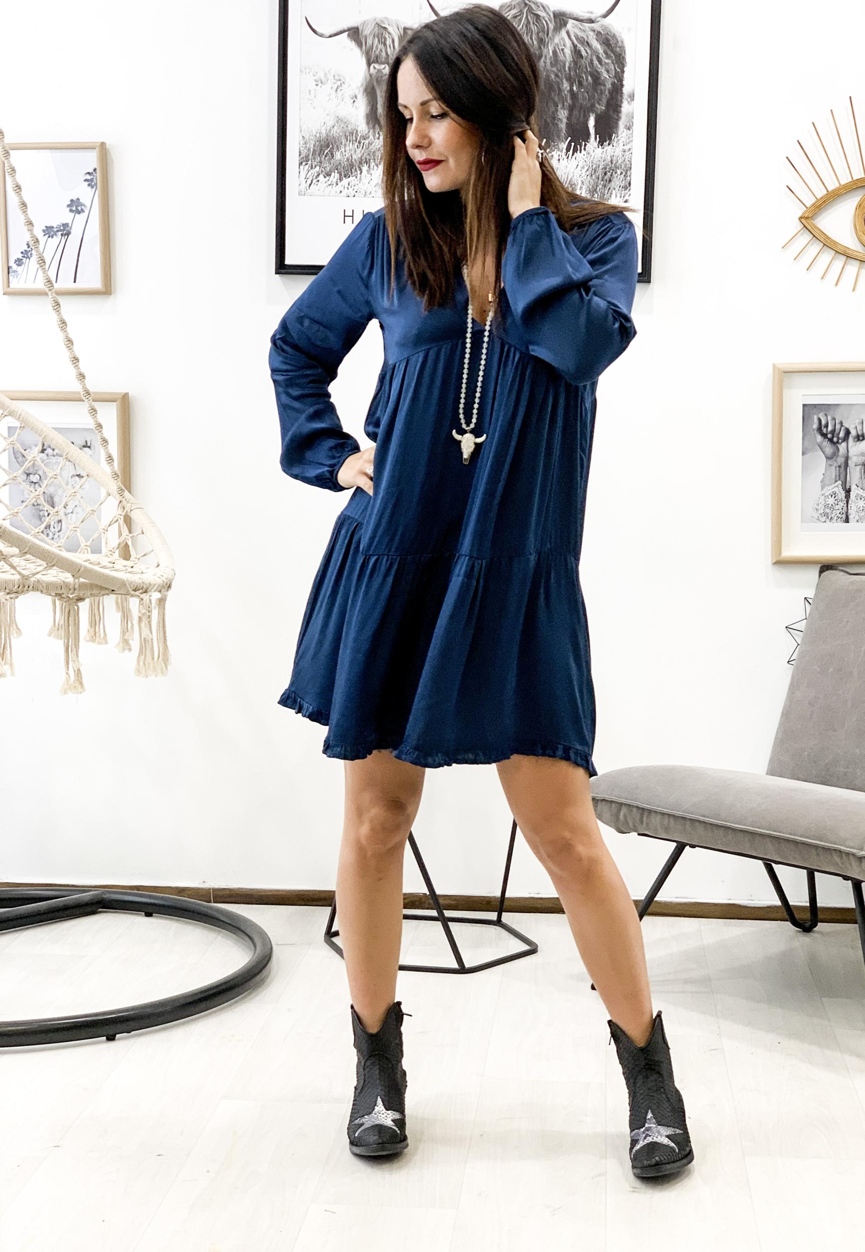 Robe TINA bleu