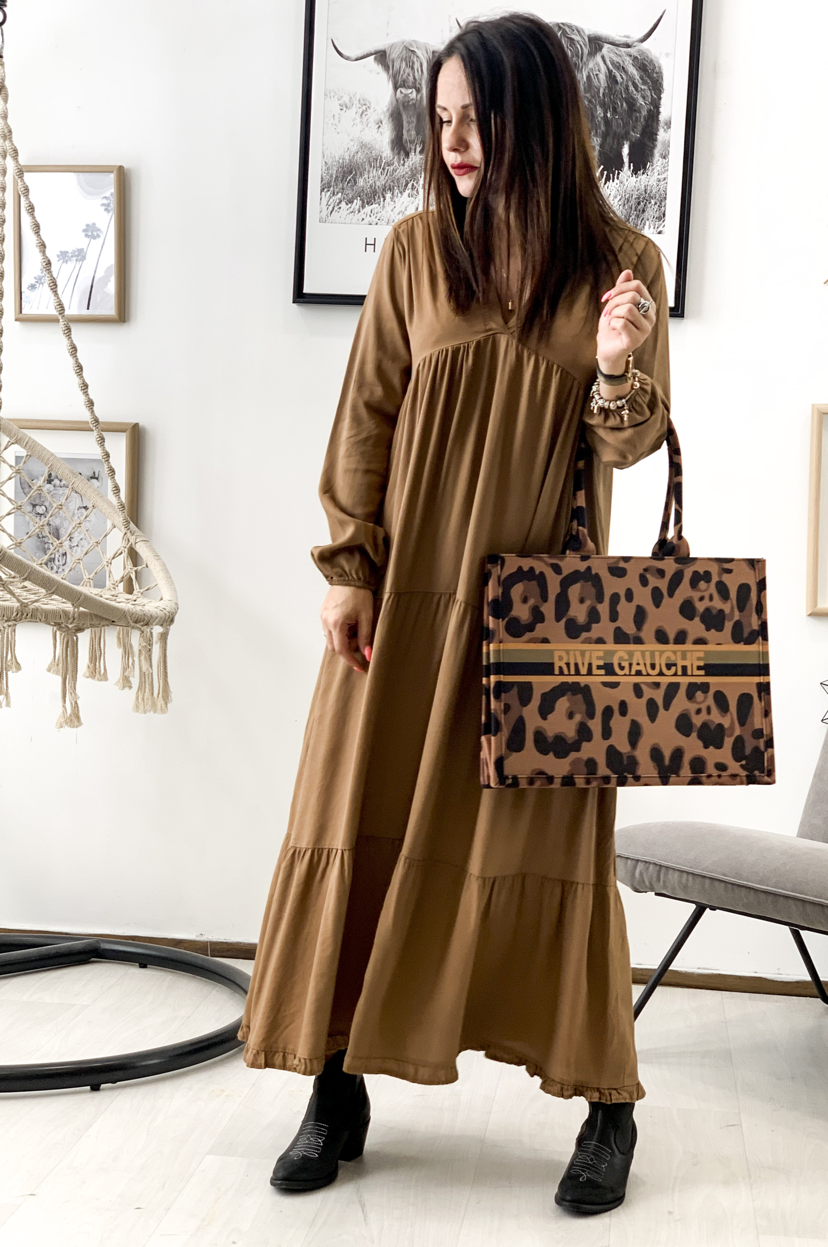 Robe FEDORA camel