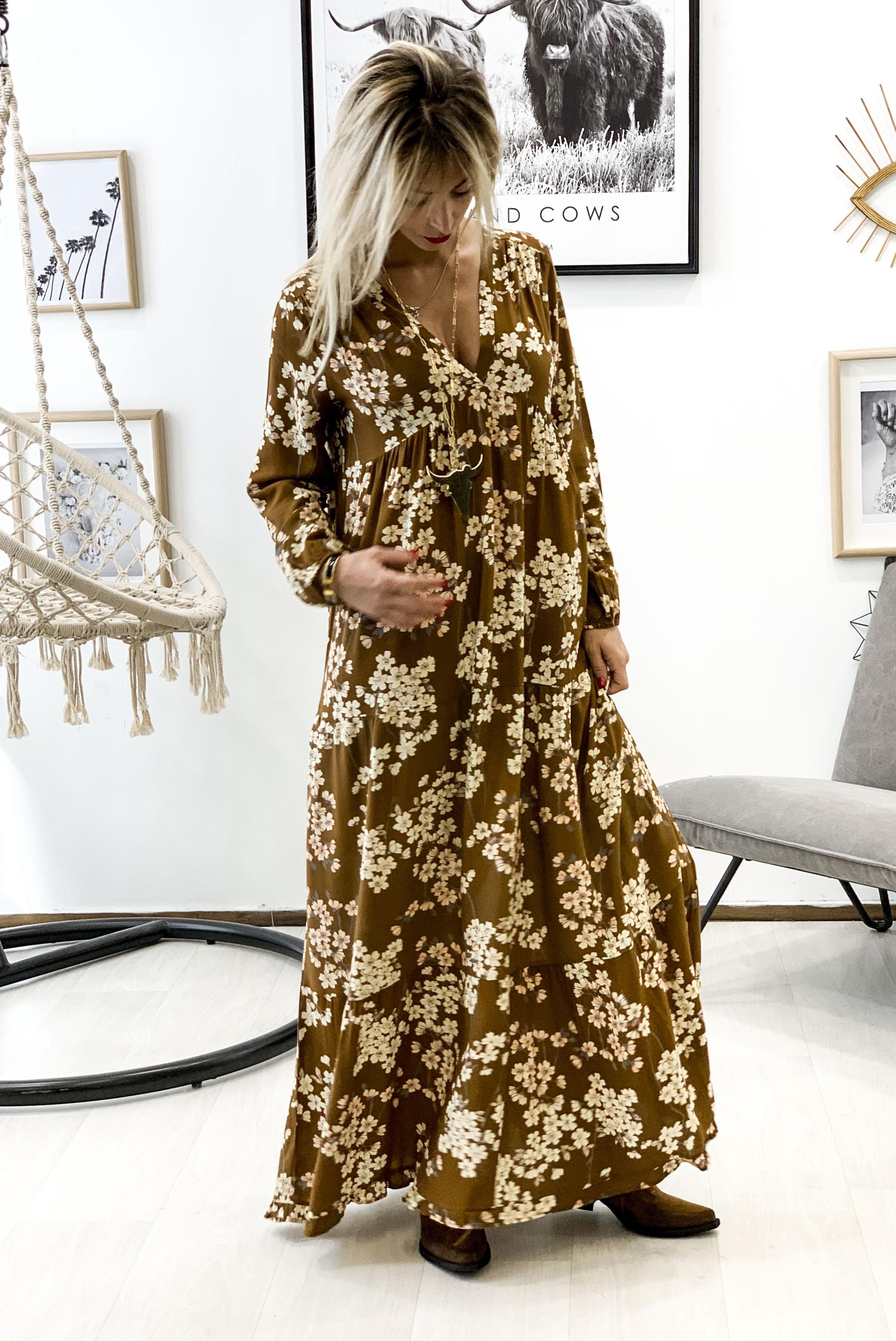 Robe LUCIA marron