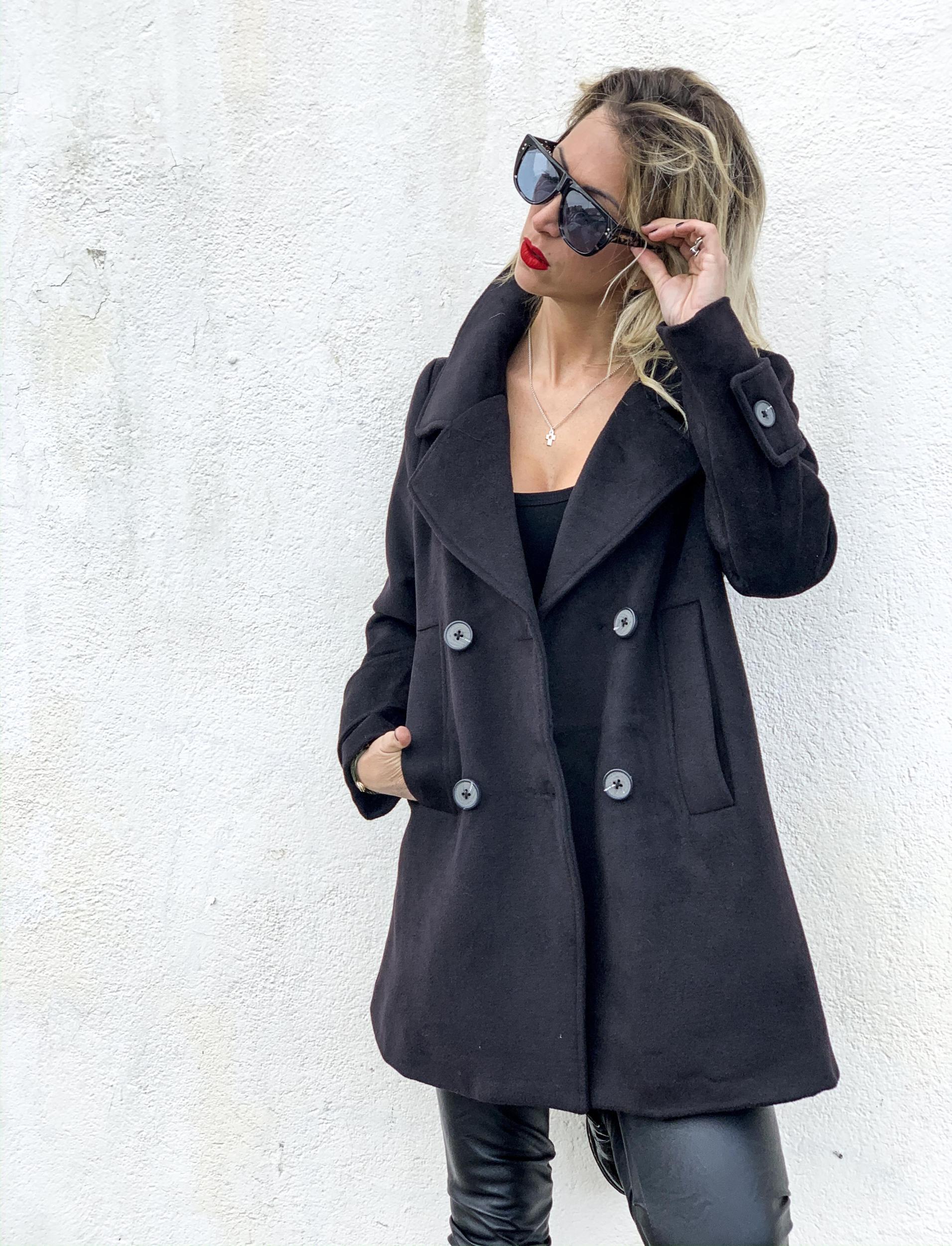 Manteau EVANA noir