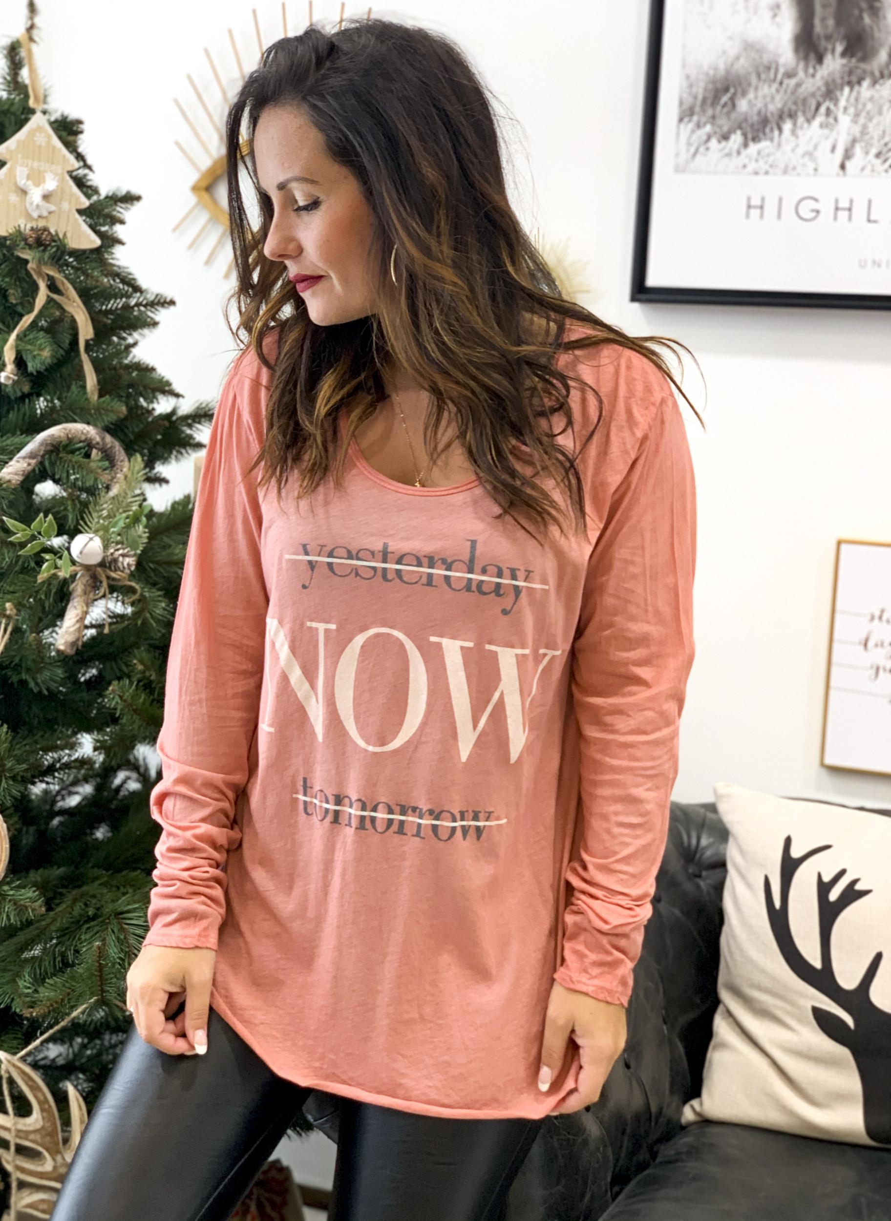 T-shirt NOW blush
