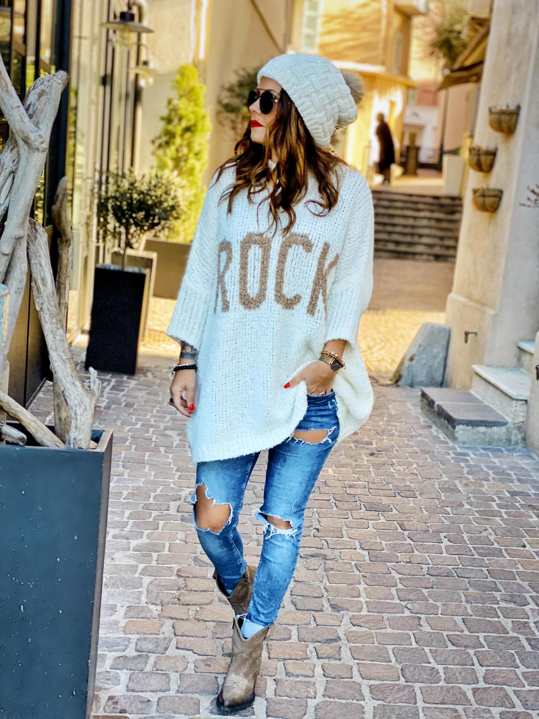 Pull DONA ROCK blanc