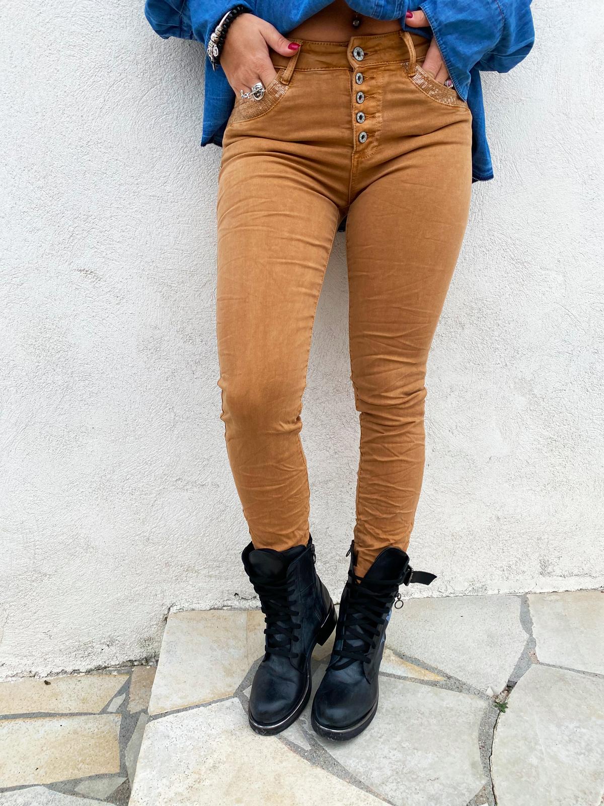 Pantalon NIKARA camel