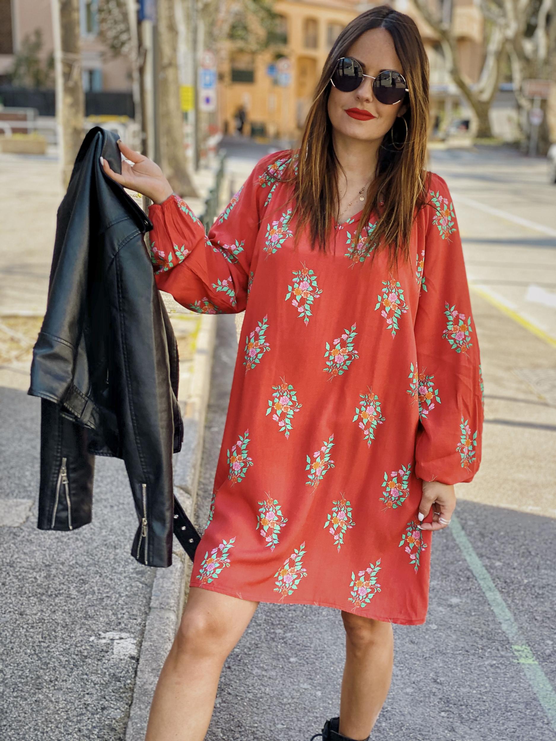 Robe CLARISSA rouge