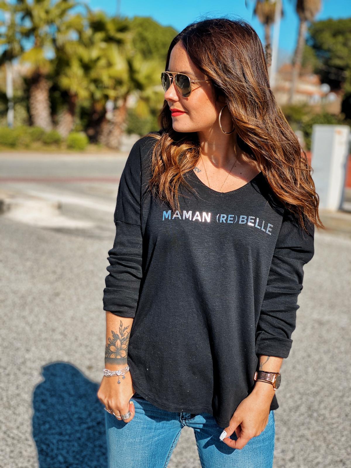 Tee-shirt REBELLE noir