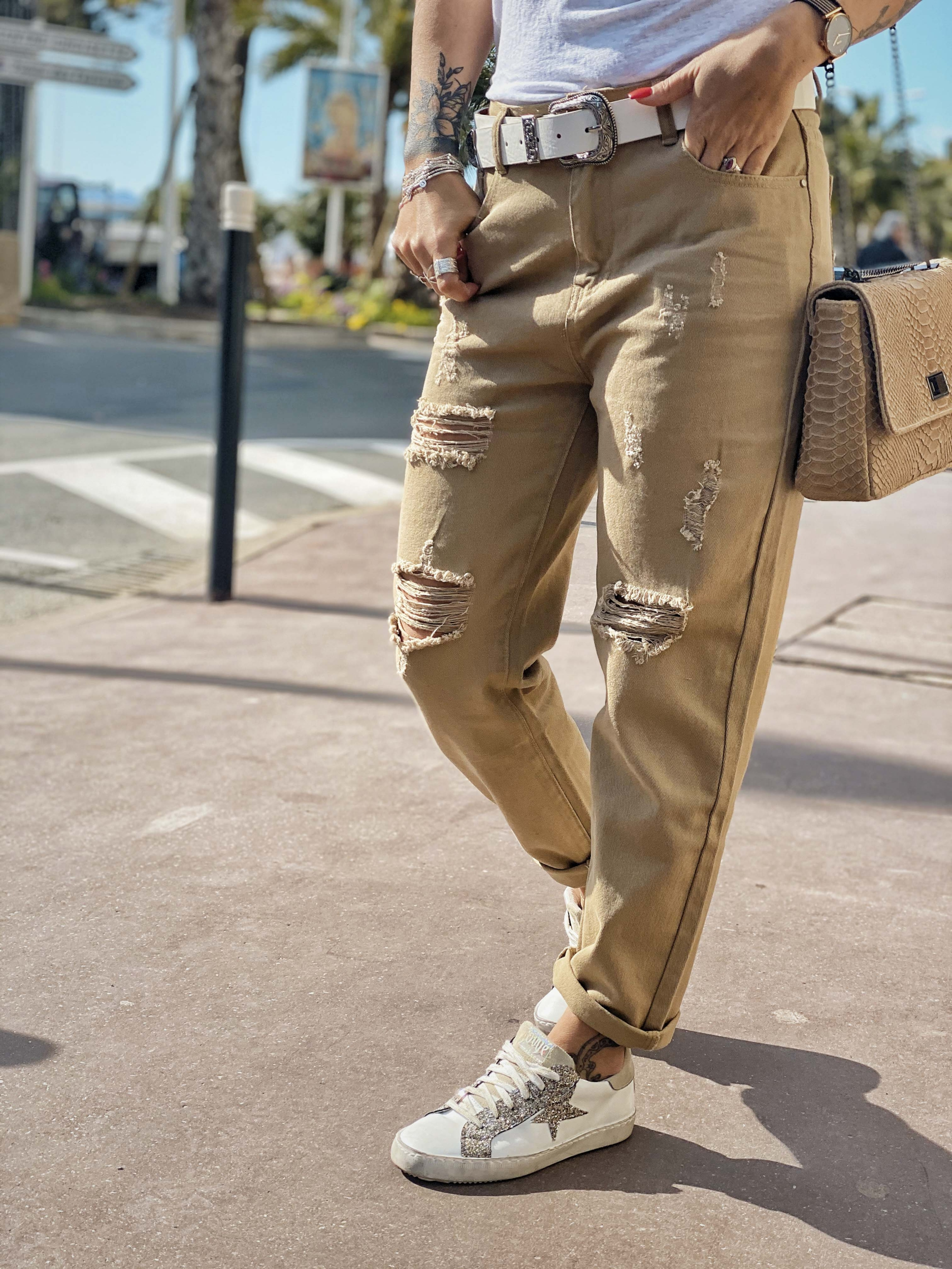 Pantalon PILY beige