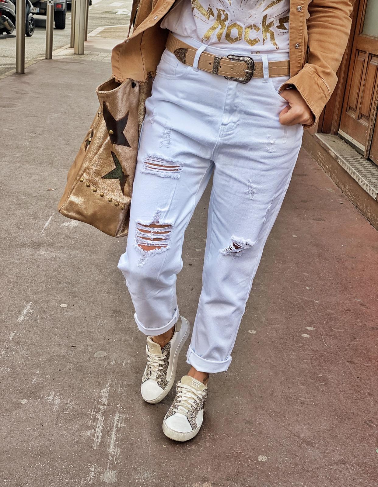 Pantalon PILY blanc