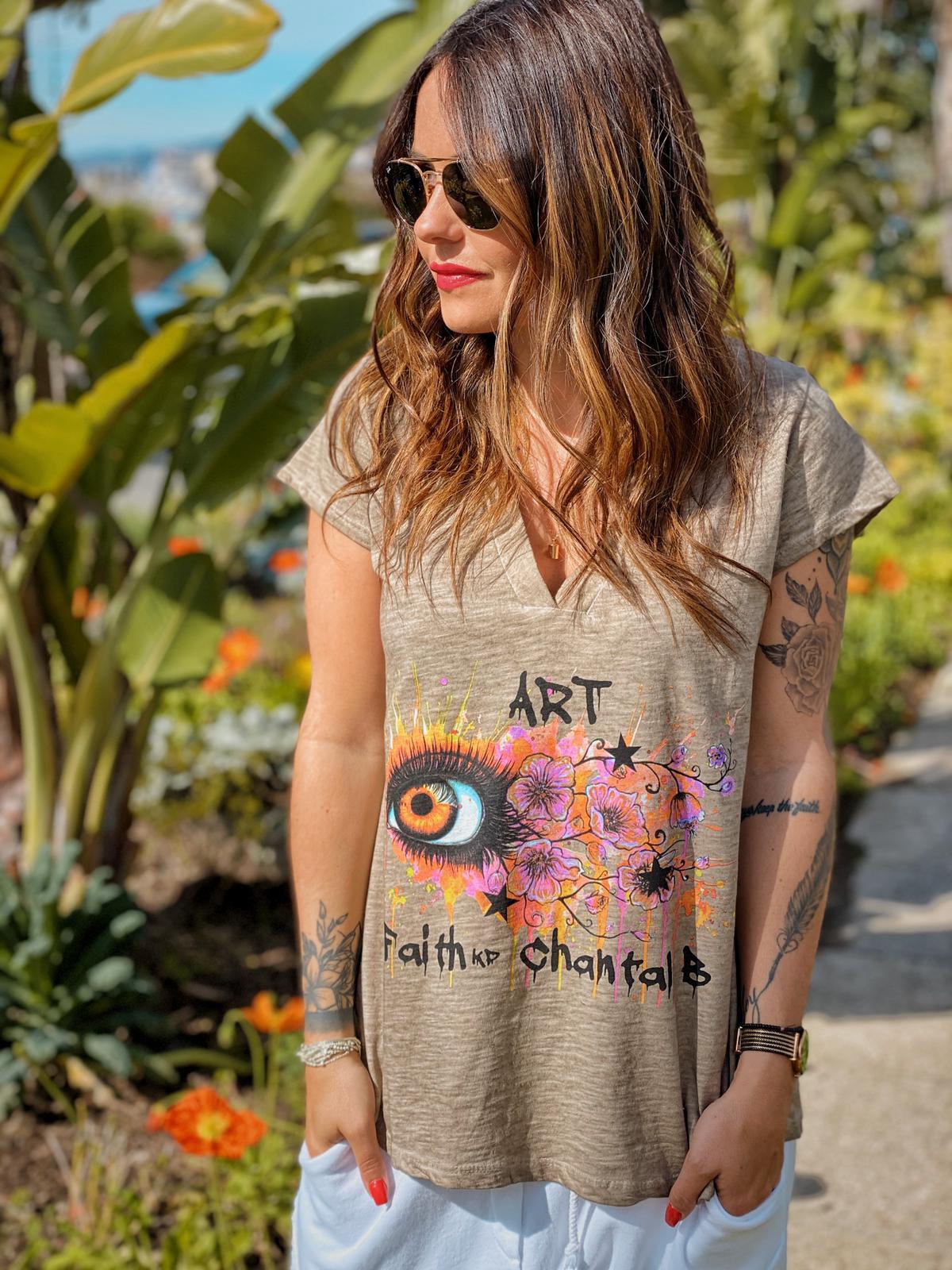 T-shirt FAITH taupe Chantal B