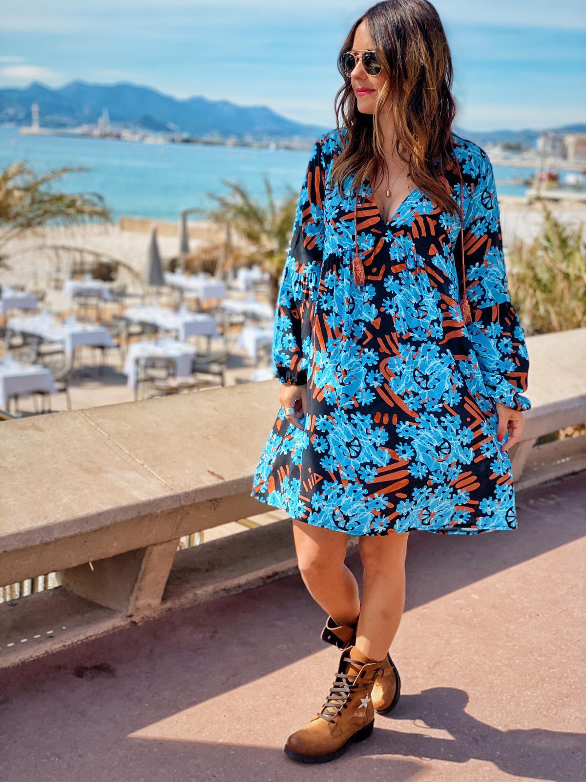 Robe LIVELY bleu Chantal B