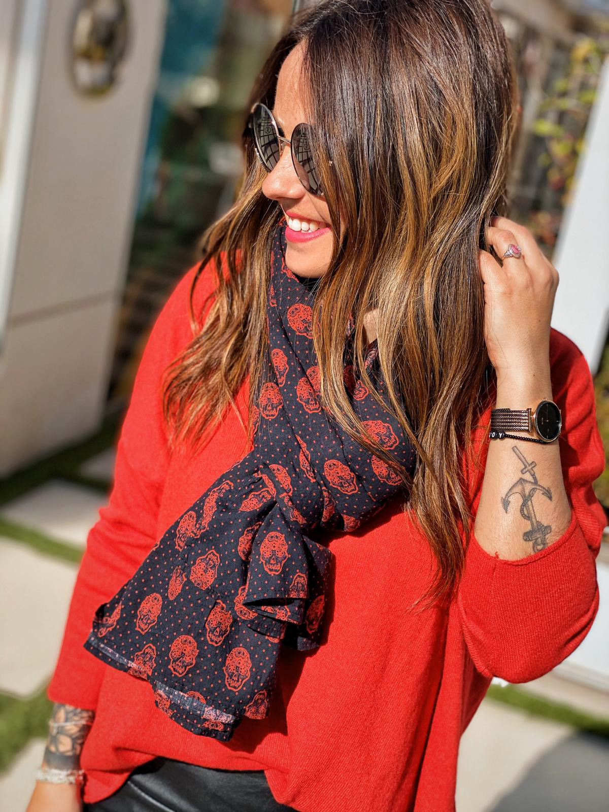 Foulard NELLY rouge Banditas