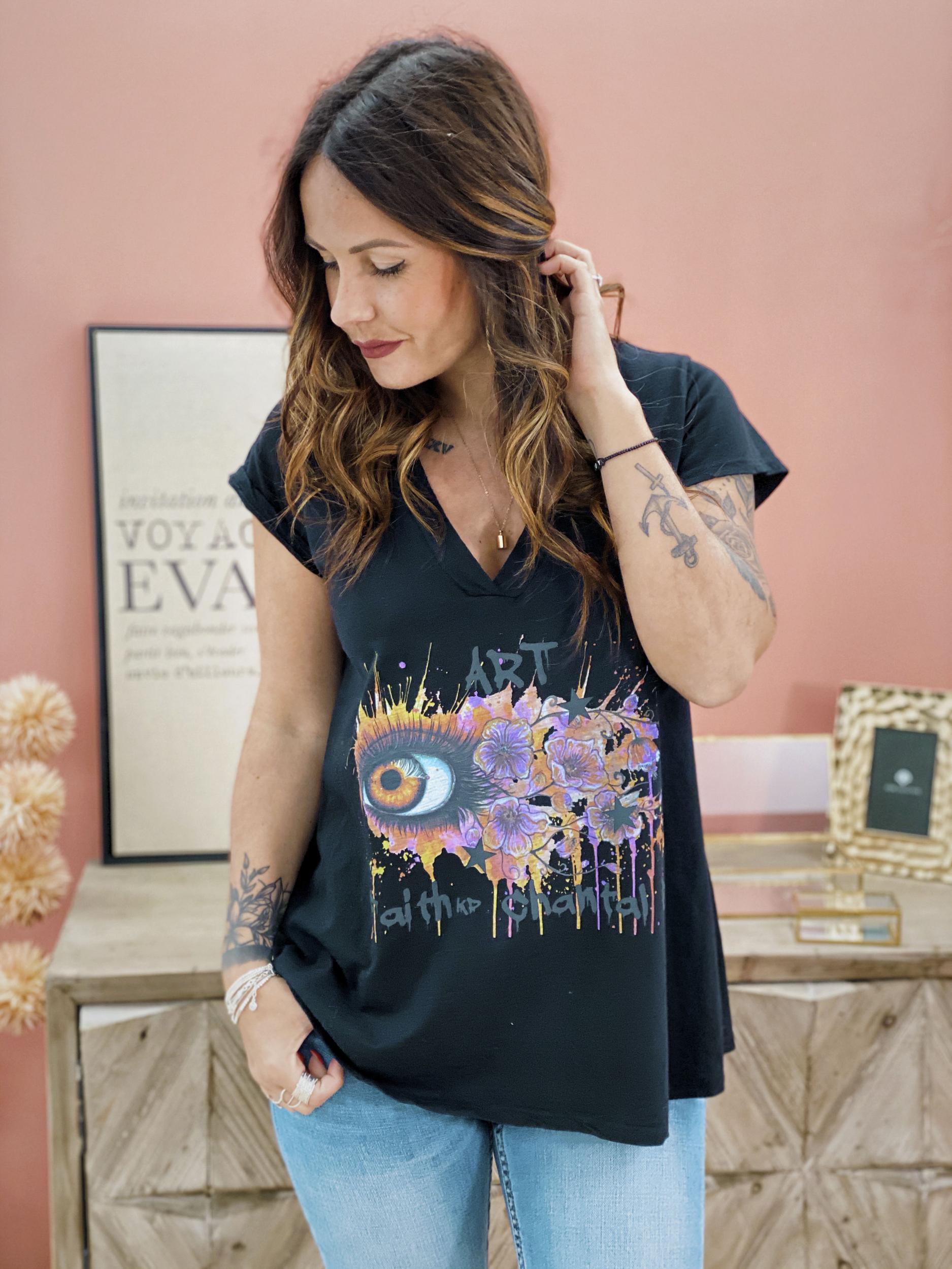 T-shirt FAITH noir Chantal B
