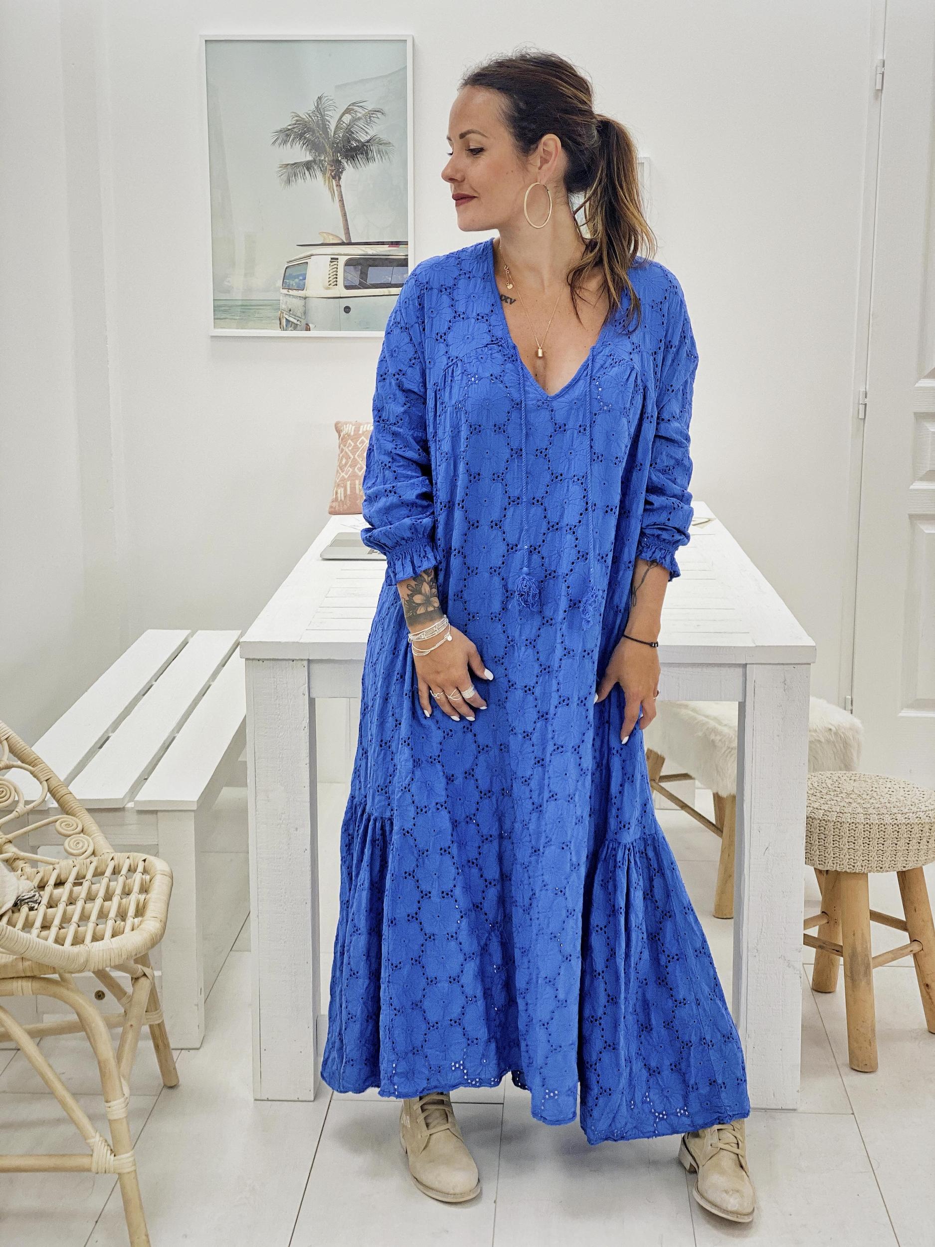 Robe ANNELISE bleu Chantal B