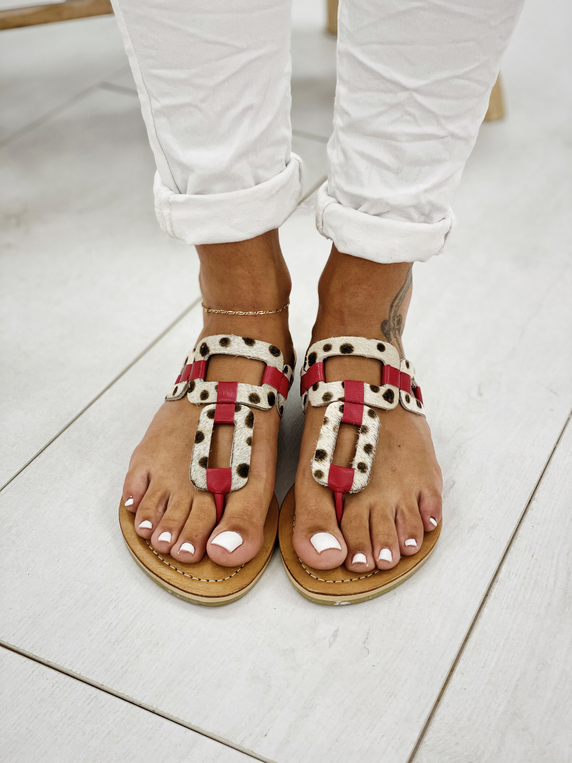 Sandales ALOHA rouge Bali-Bali