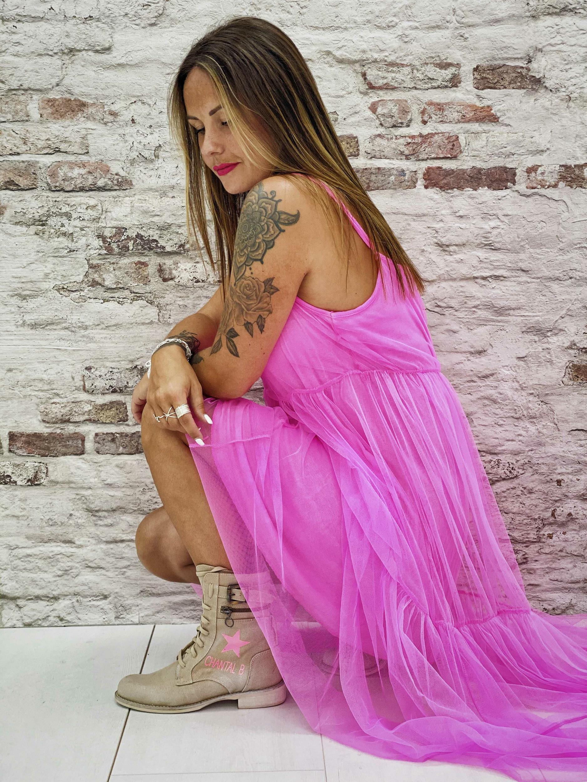 Robe CARLOTTA rose fluo Wiya