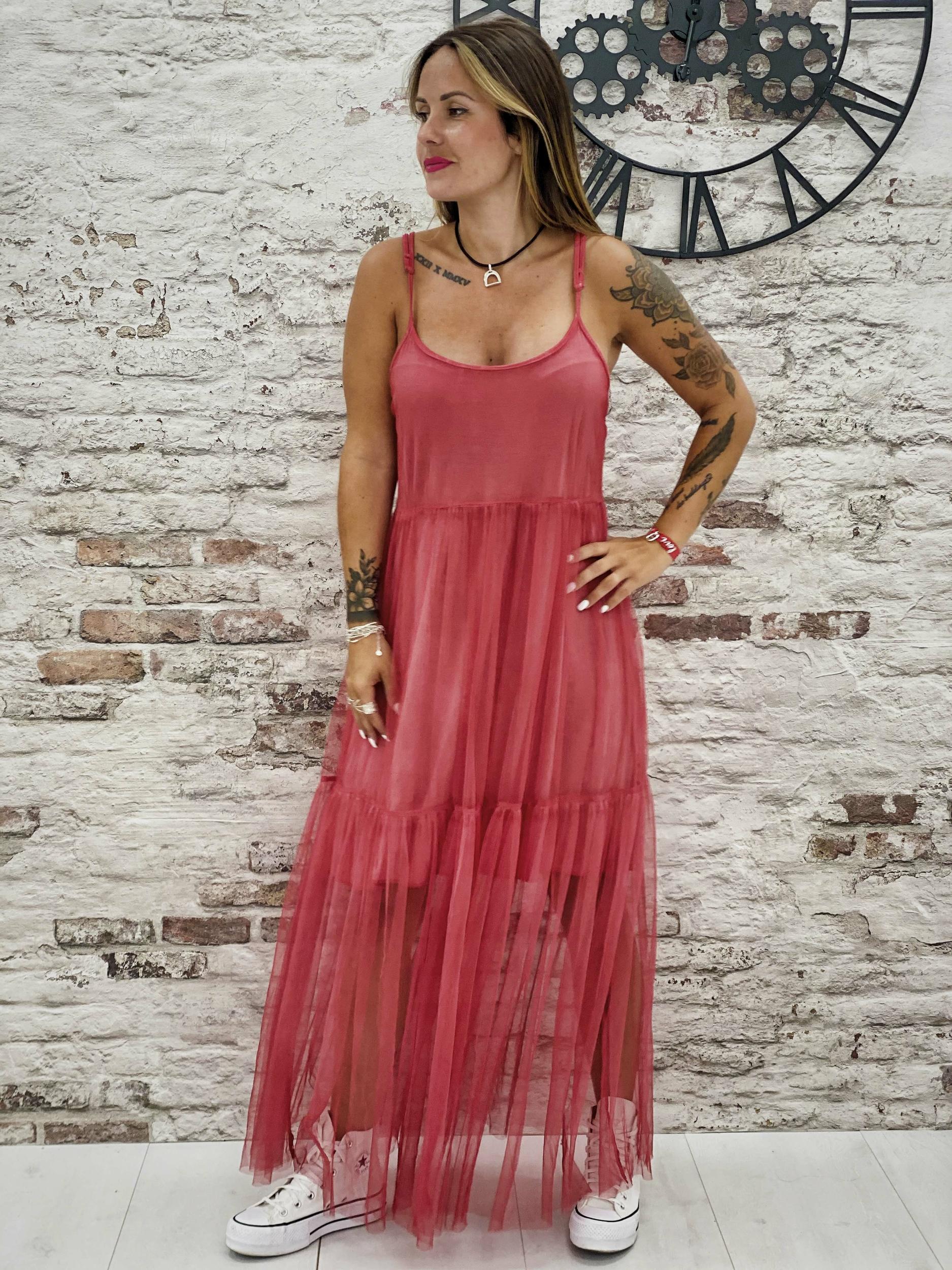 Robe CARLOTTA rouge Wiya