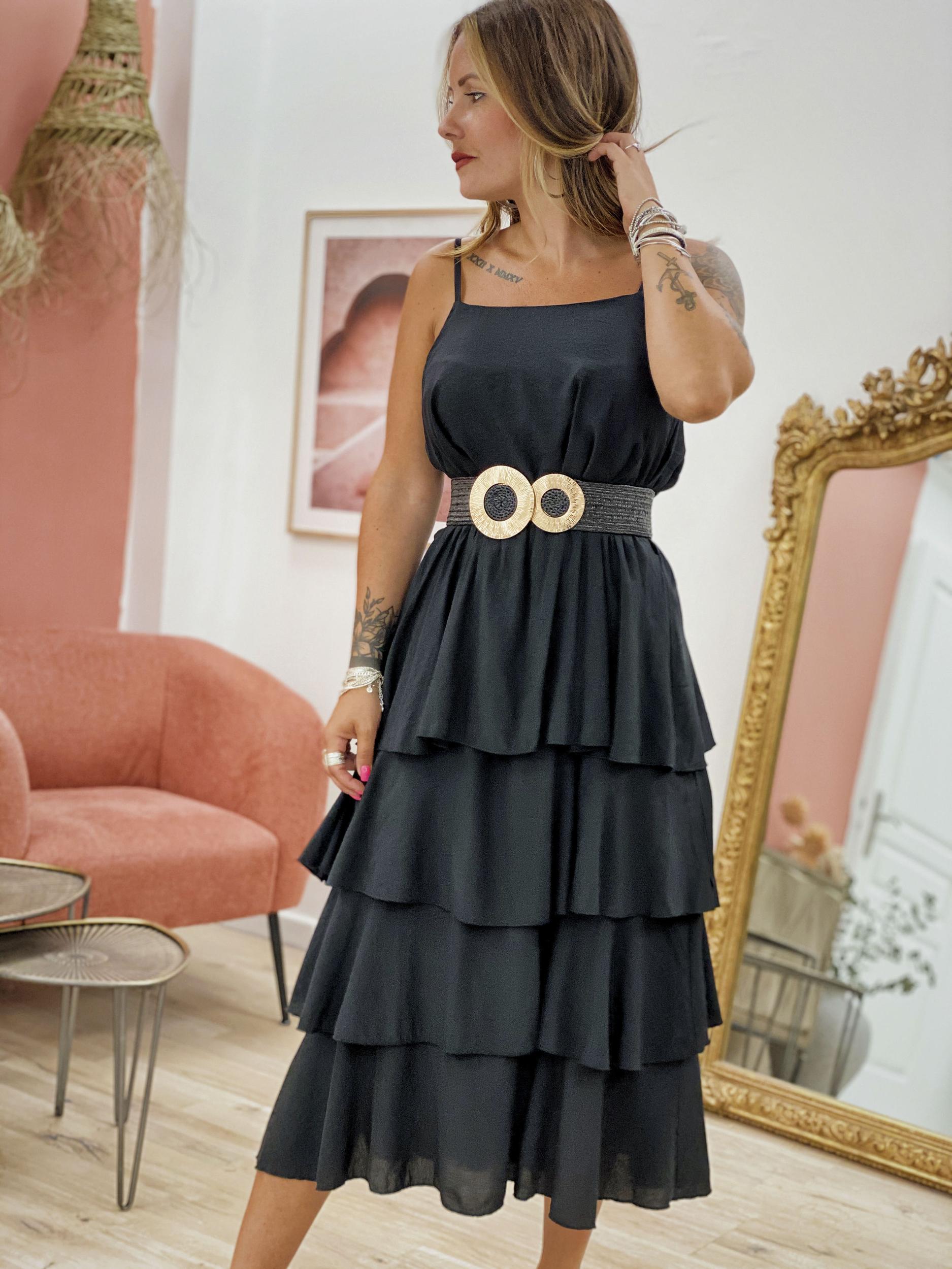 Robe MAELO noir Wiya