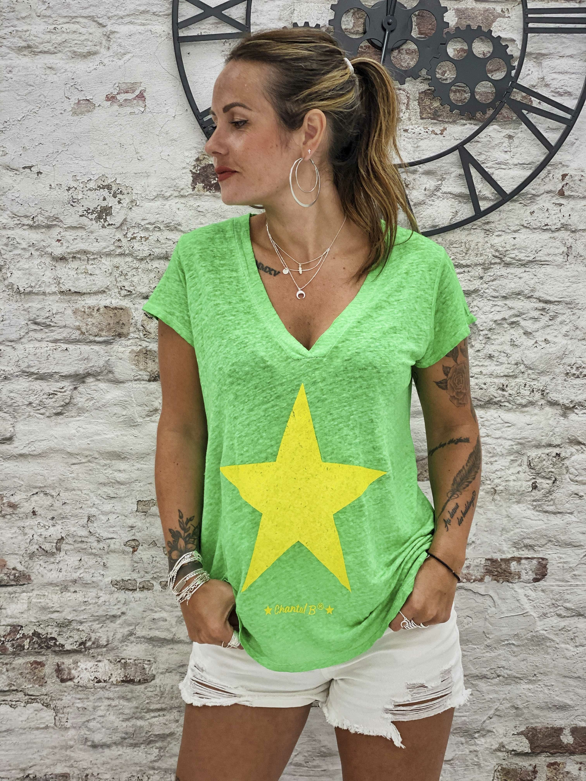 T-shirt STAR vert Chantal B