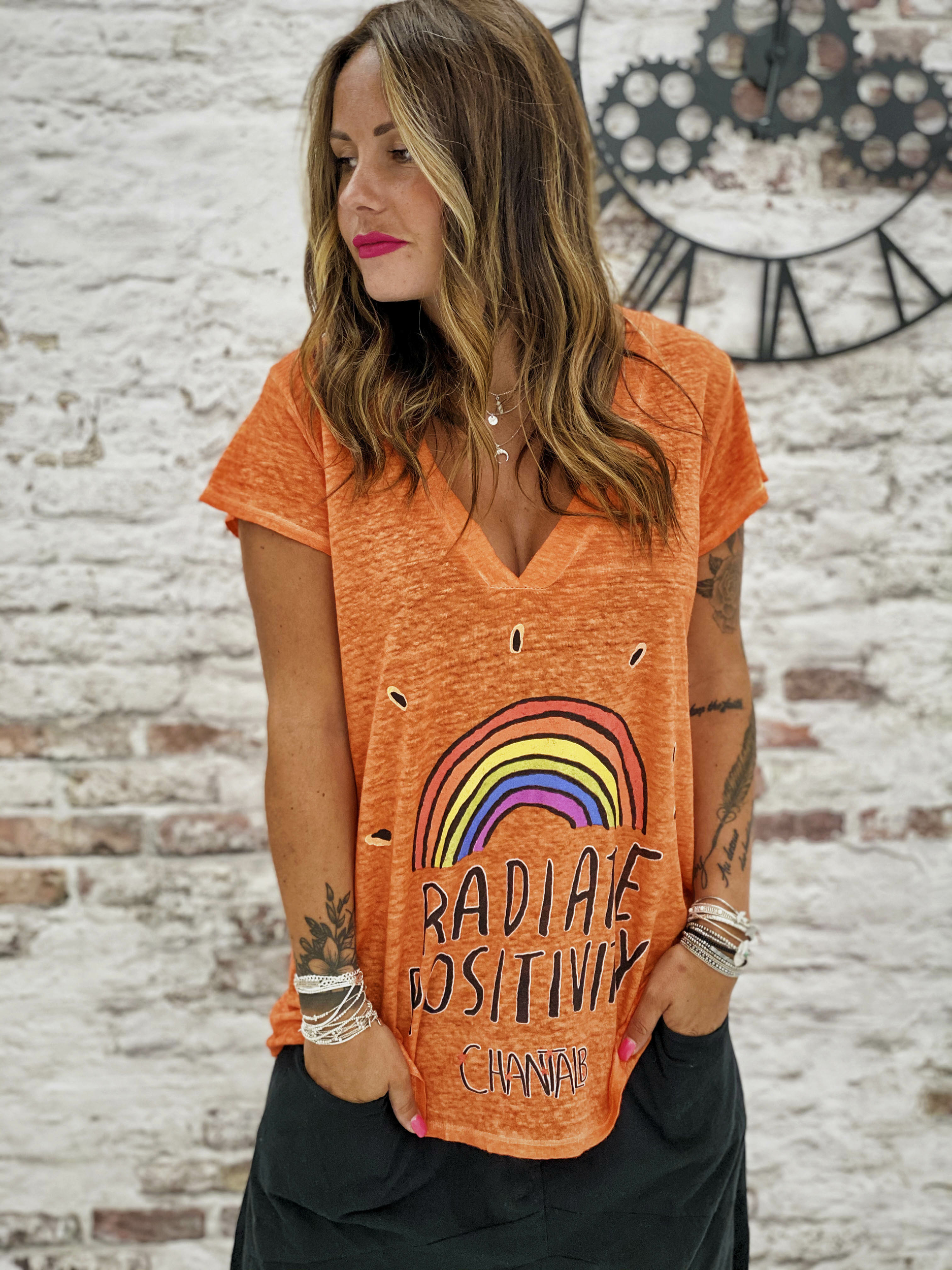 T-shirt RAINBOW orange Chantal B
