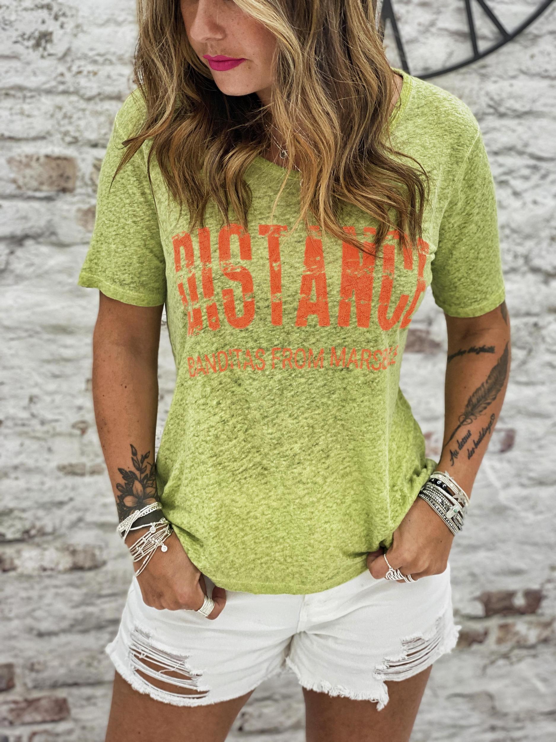 T-shirt DISTANCE vert Banditas