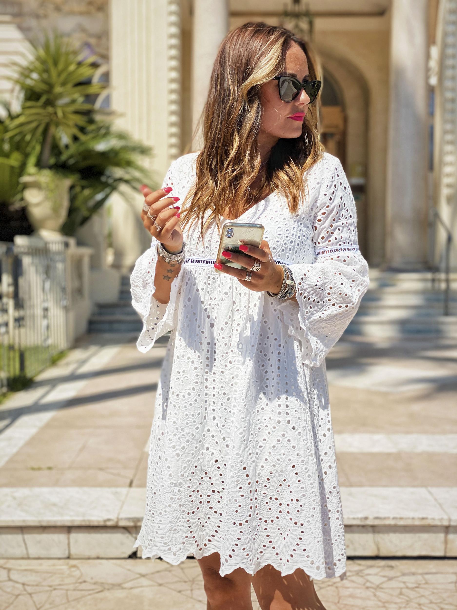 Robe ISADORA courte blanc Banditas