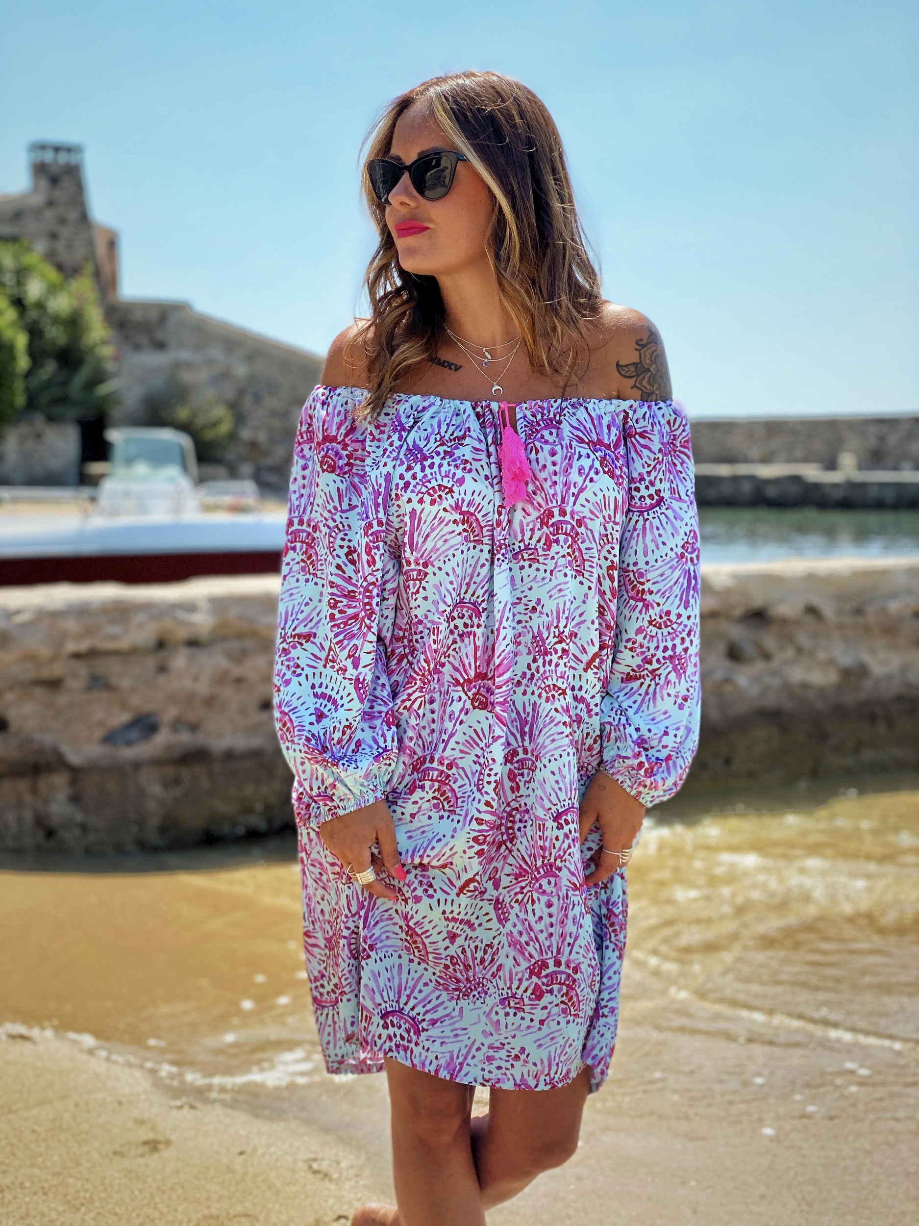 Robe CASSIS turquoise Chantal B