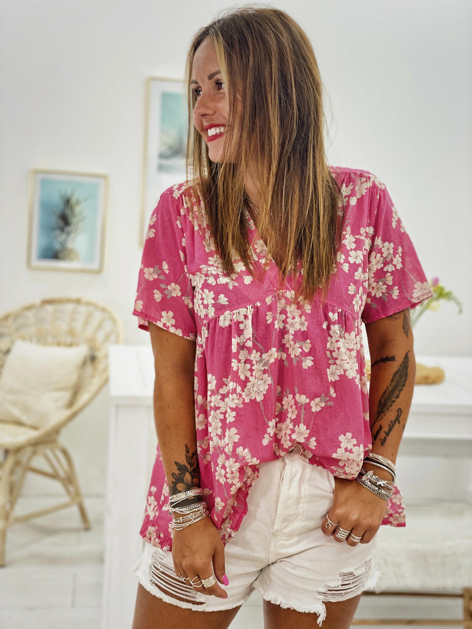 blouse LUCIA fuchsia MC Banditas