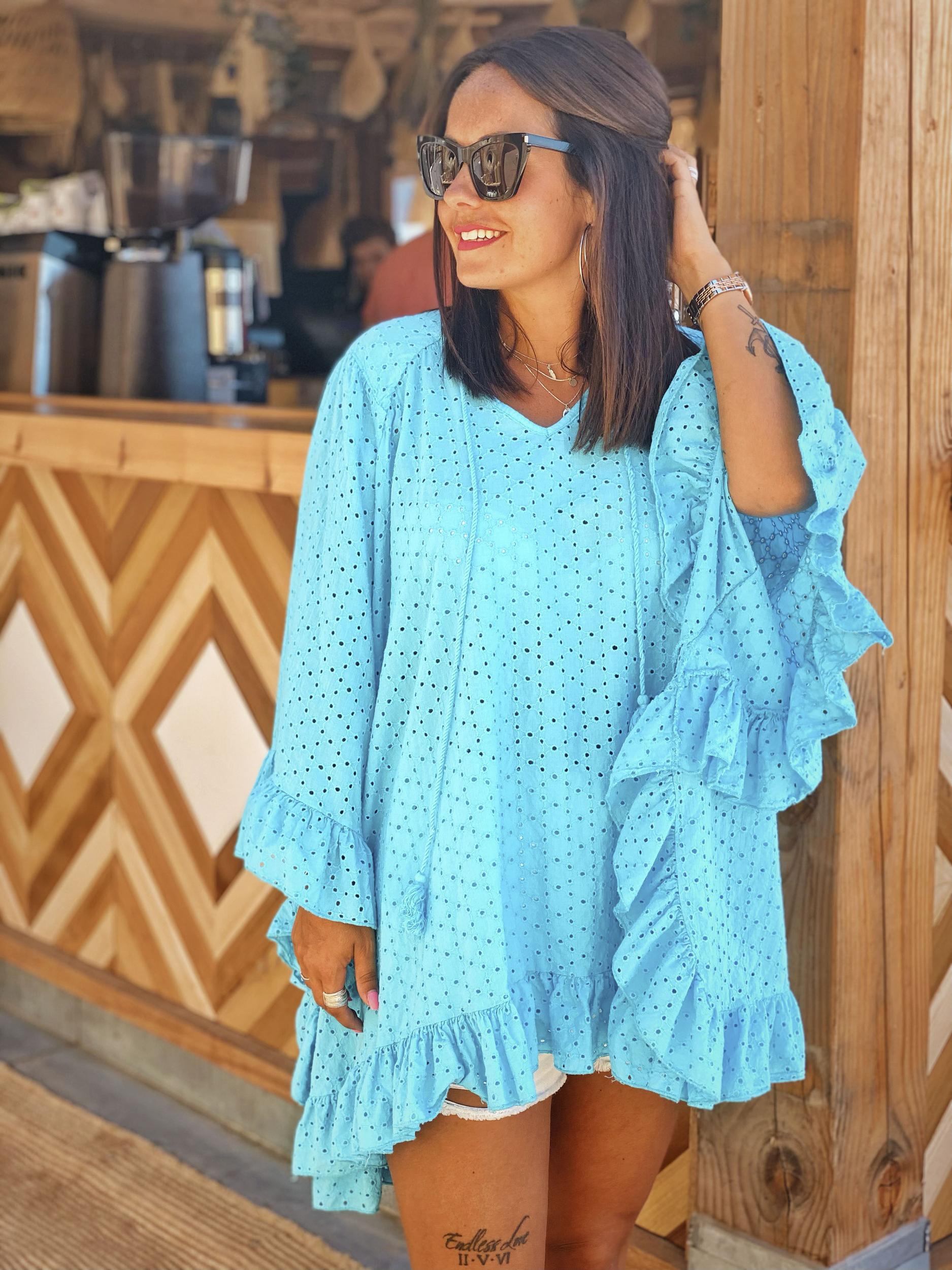 Tunique BELAIR turquoise Chantal B