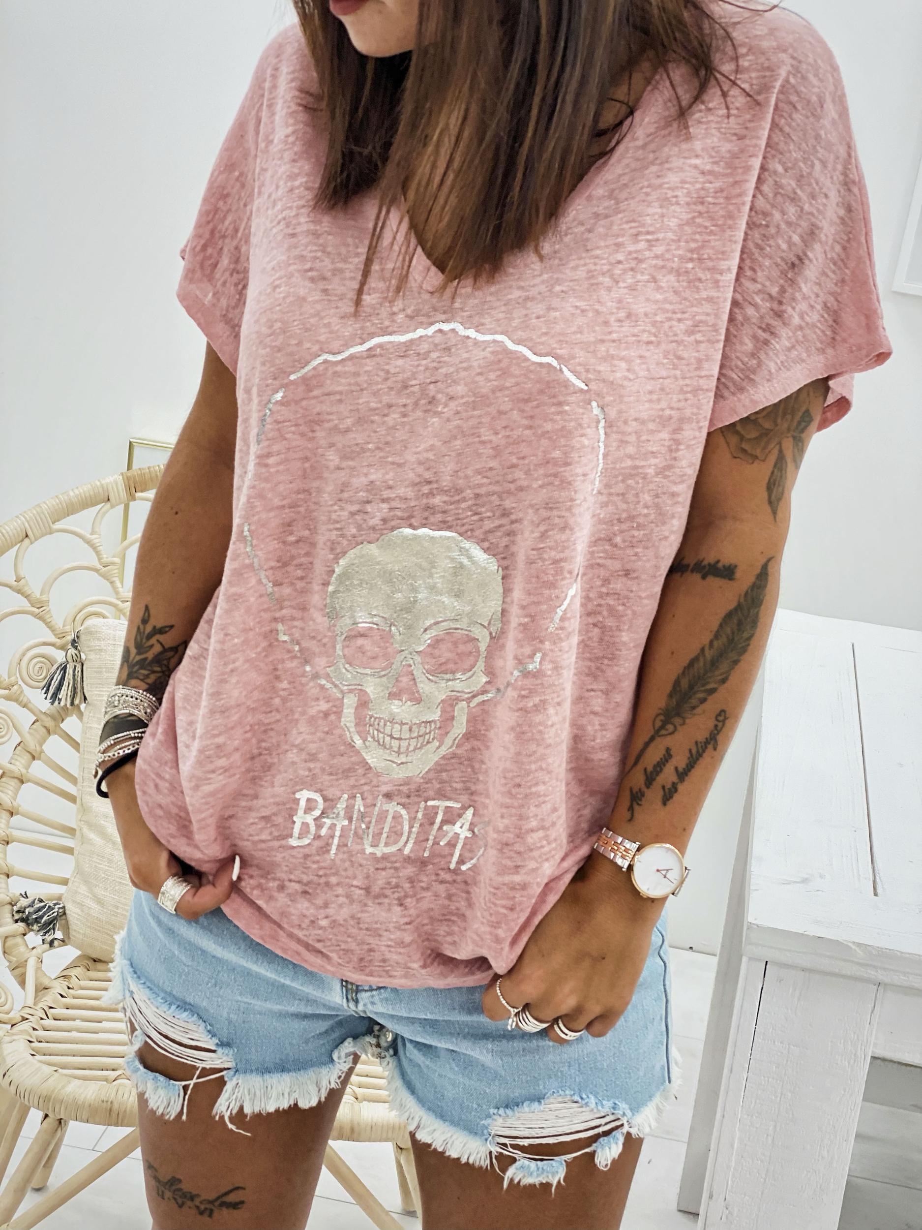 T-shirt BOB rose pâle Banditas