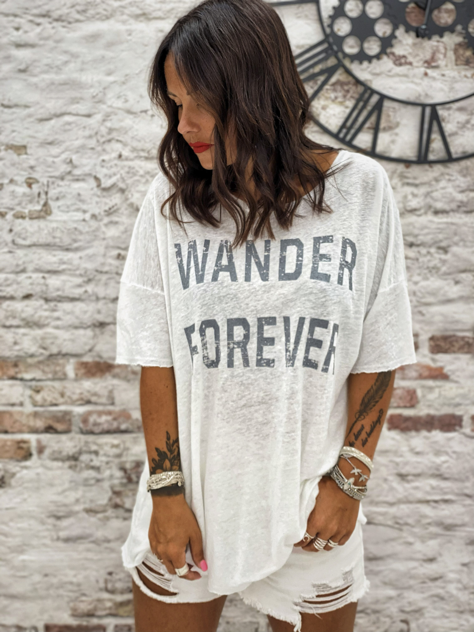 T-shirt WANDER MC blanc Banditas