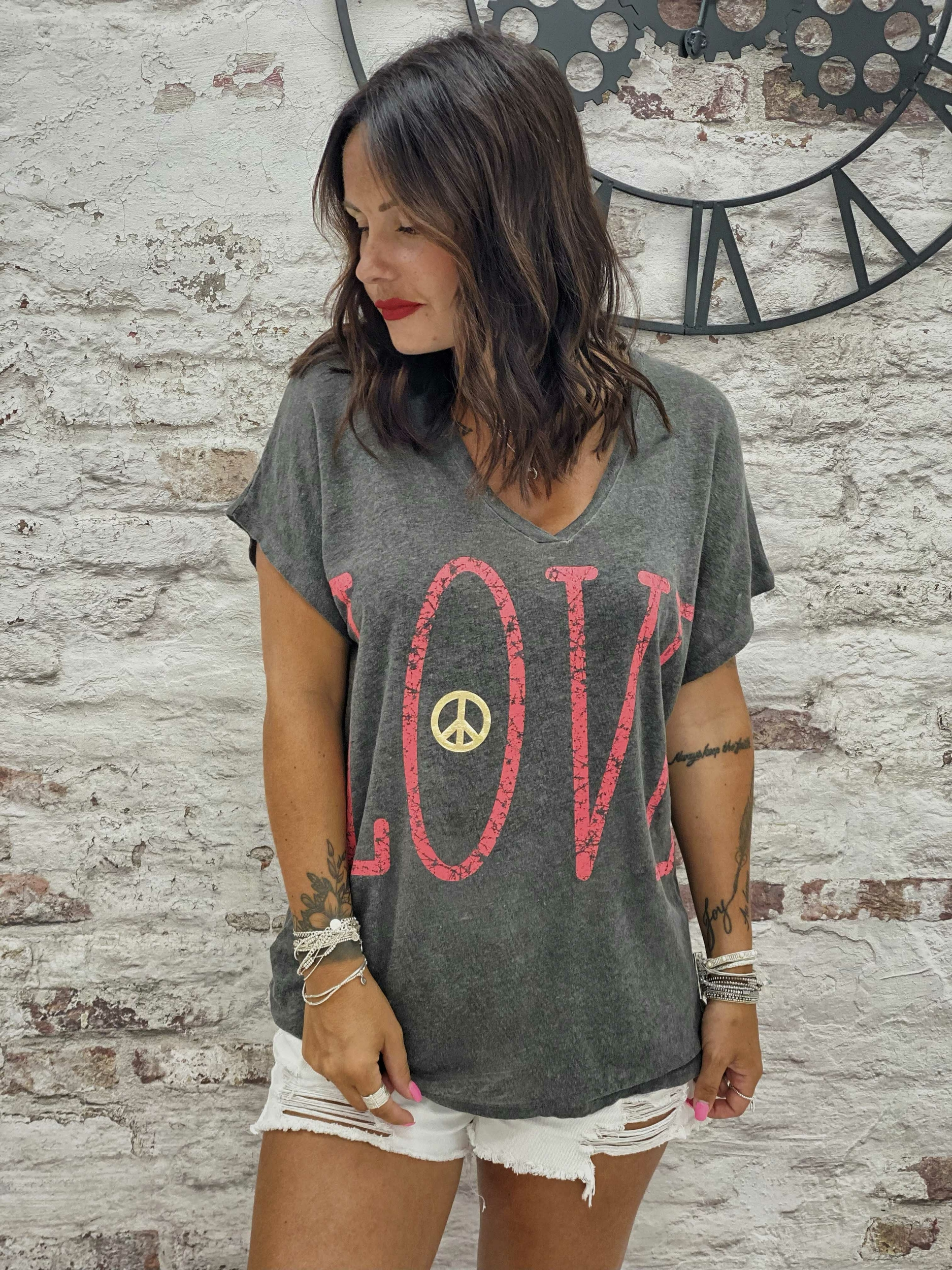 T-shirt LOVE MC anthracite Banditas