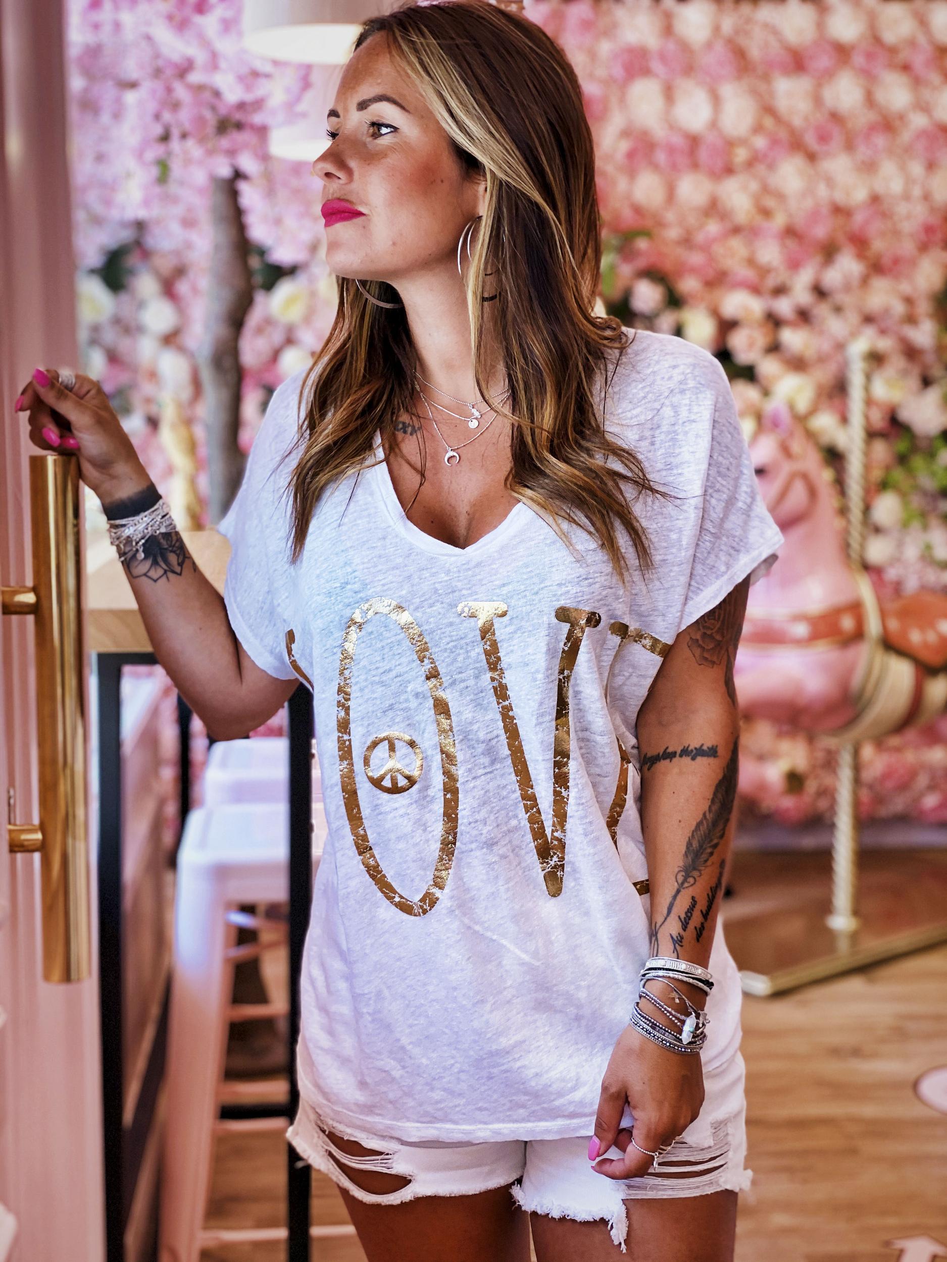 T-shirt LOVE MC blanc Banditas