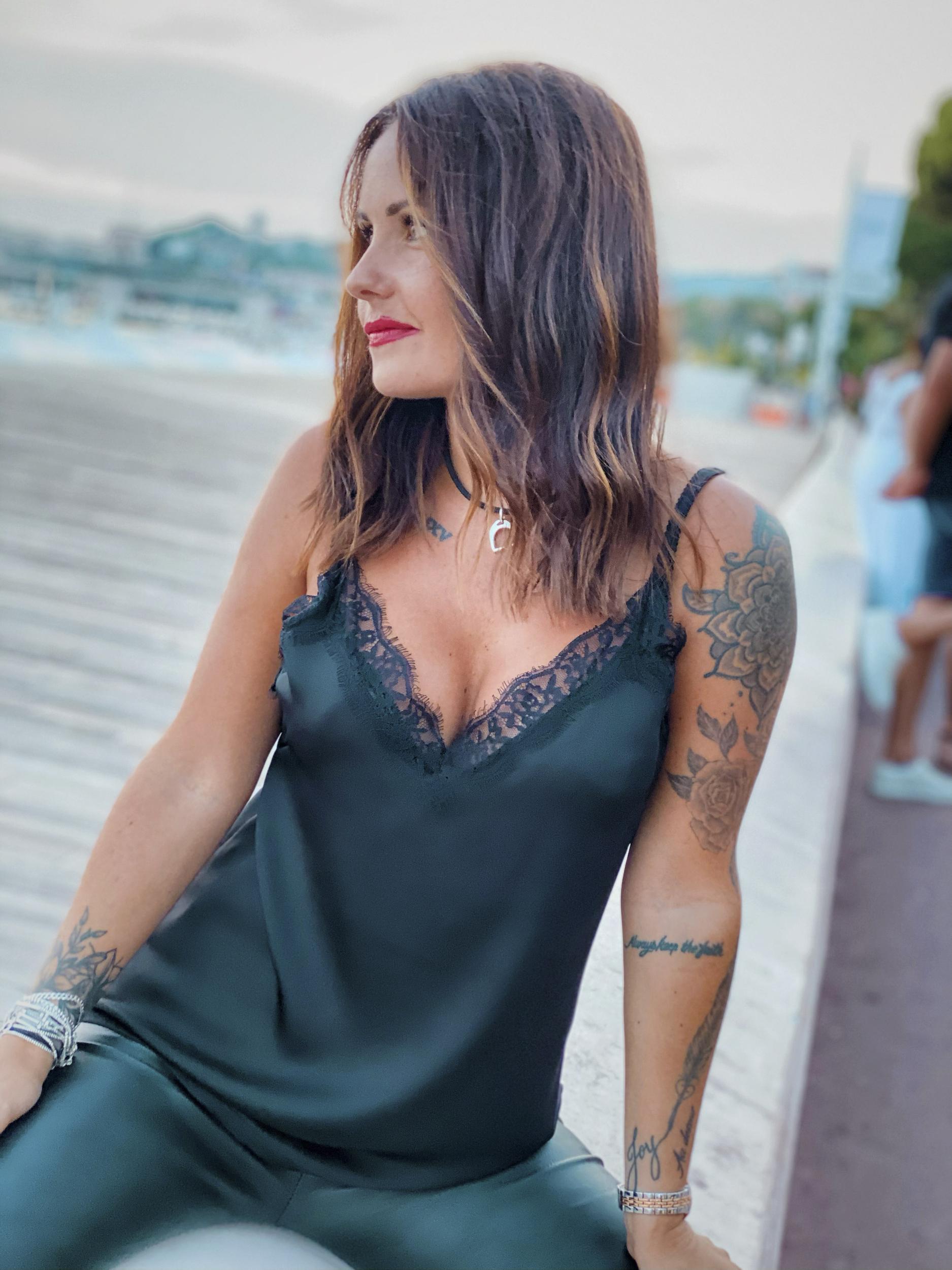 Top RACHEL noir Chantal B