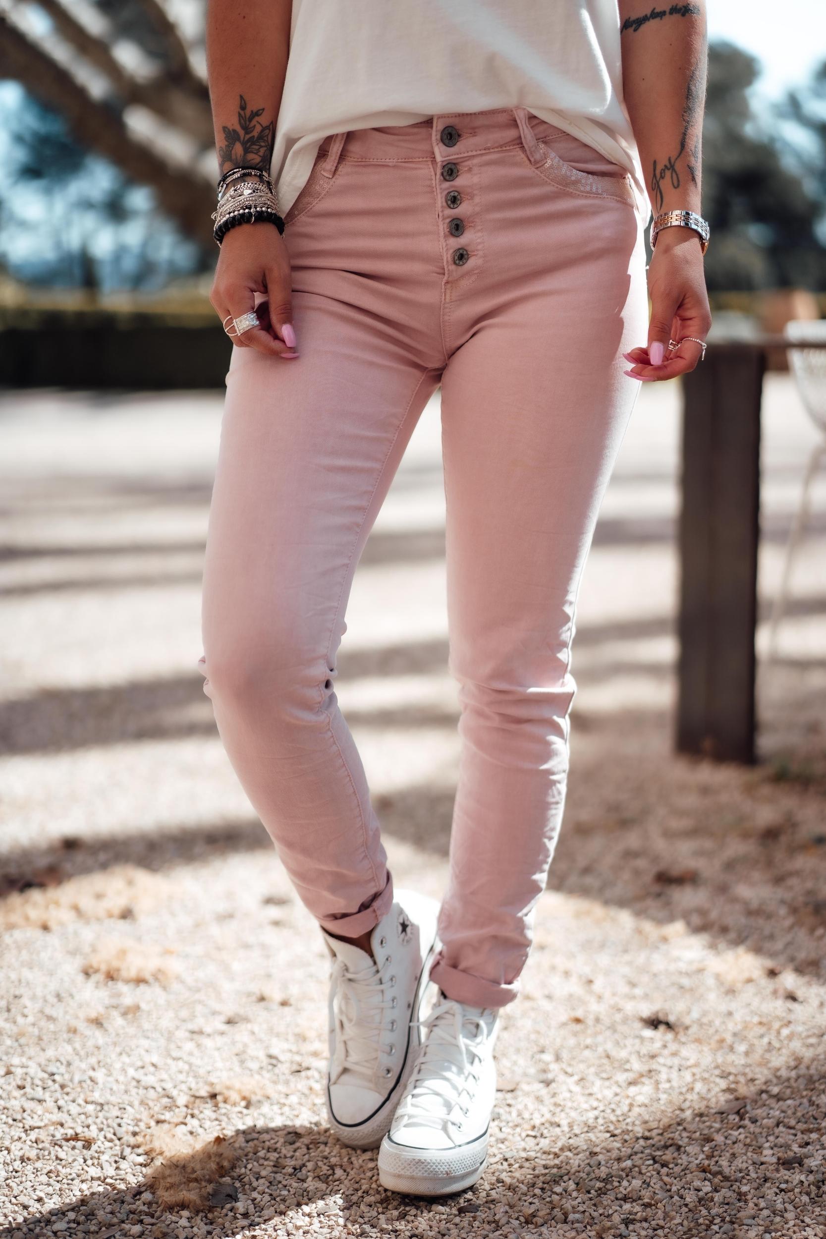 Pantalon NIKARA vieux rose