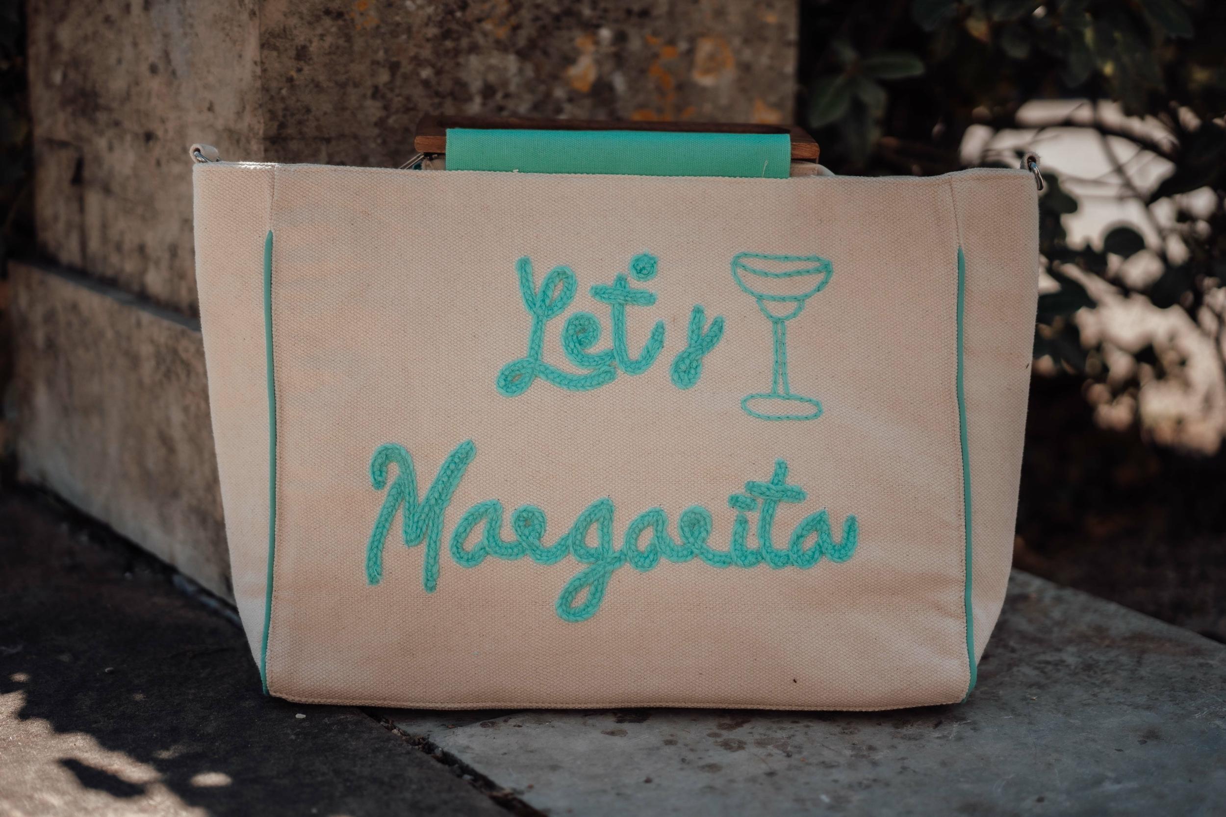 Sac MARGARITA beige/vert d\'eau