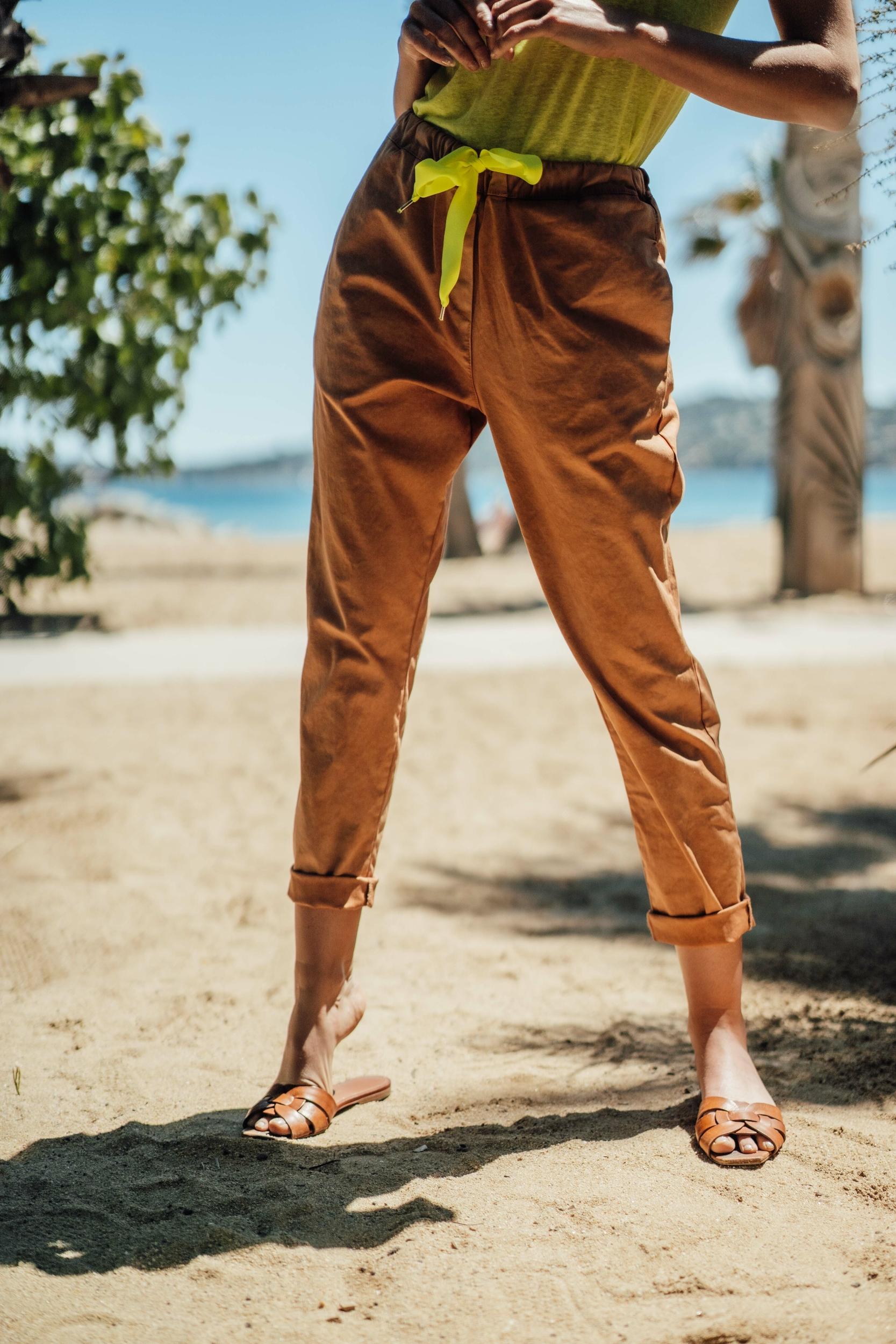 Pantalon JOE camel/jaune fluo Banditas