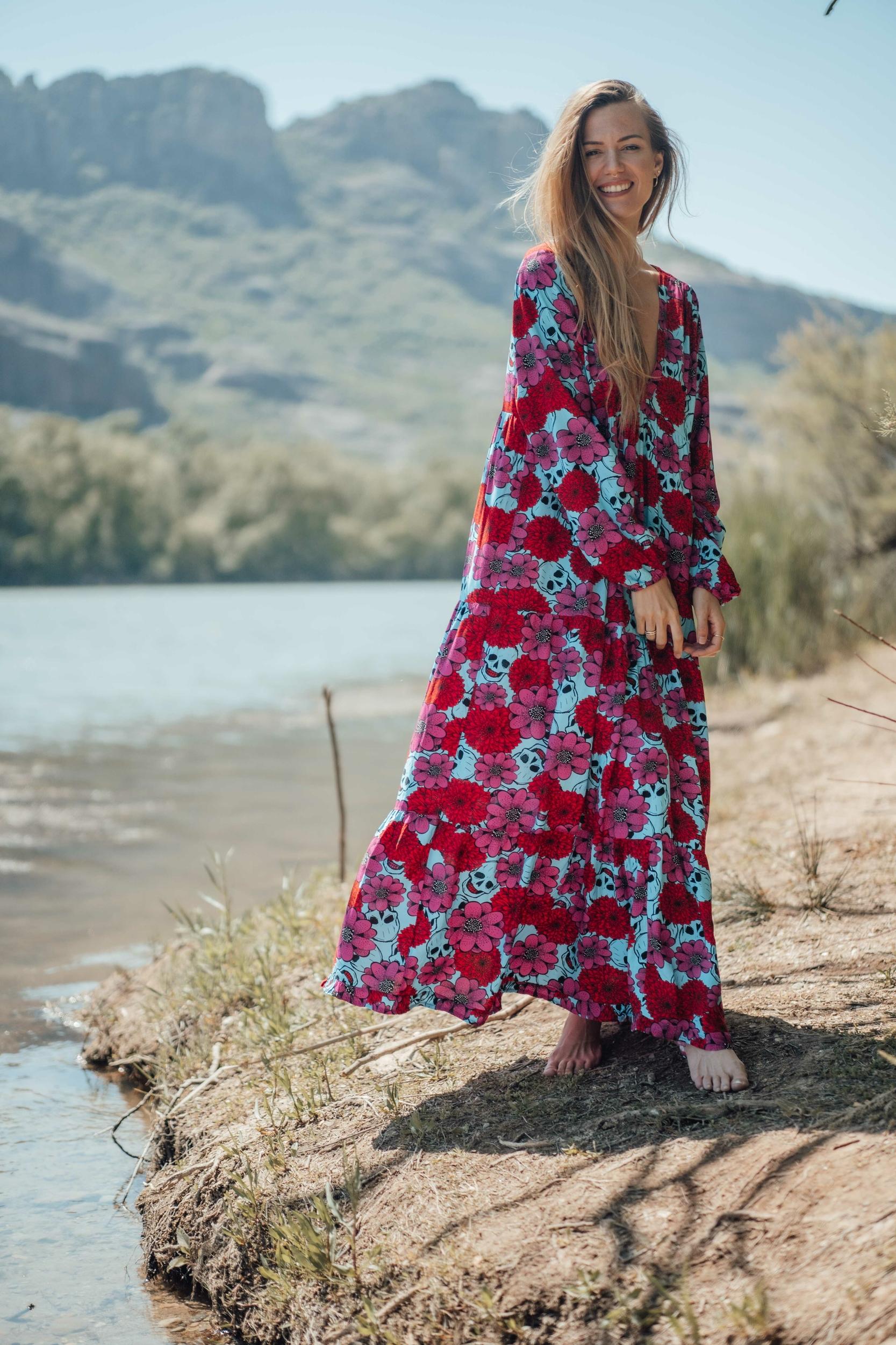 robe_latina_longue_rose_turquoise-6