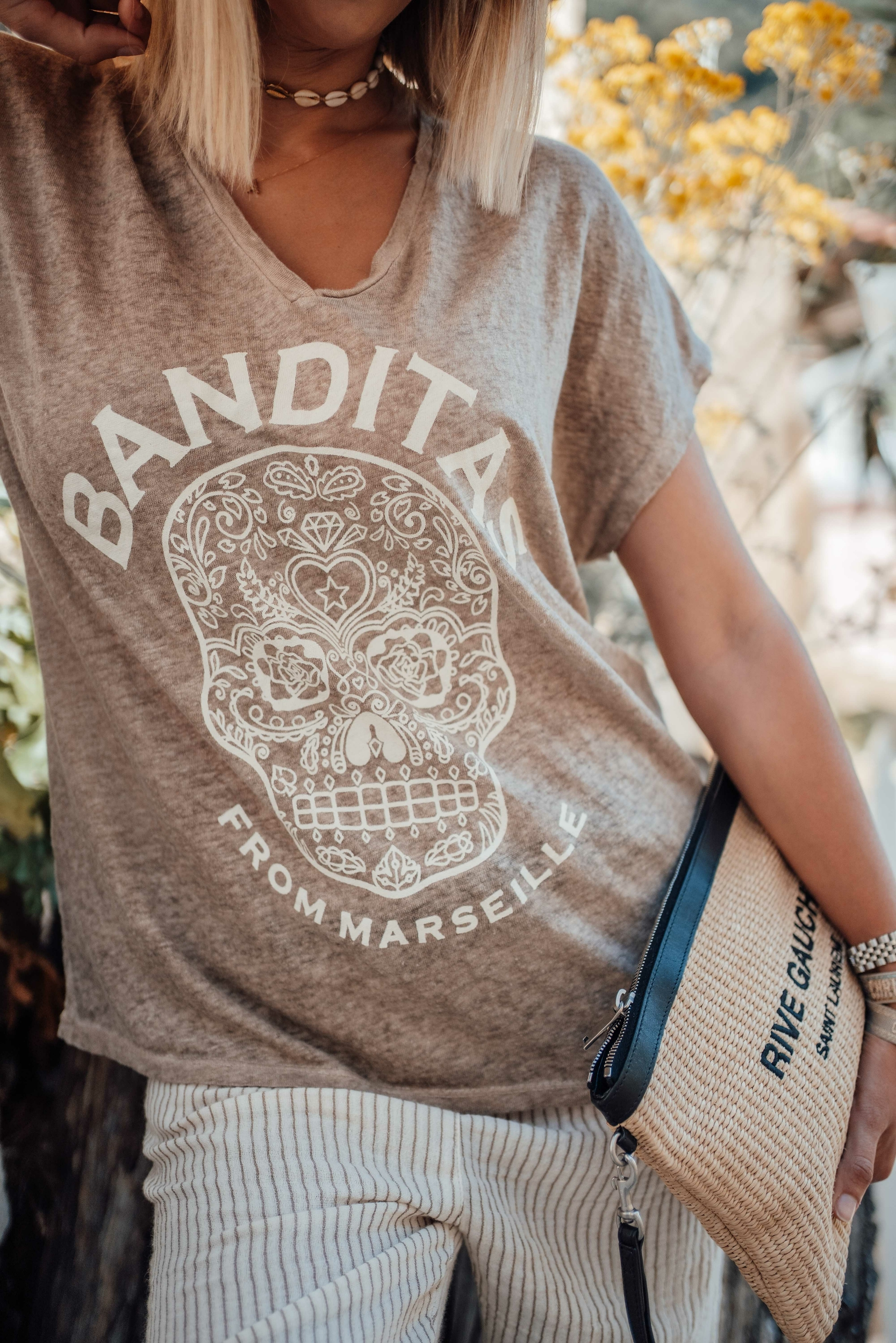 T-shirt MEXICO mc taupe/beige Banditas