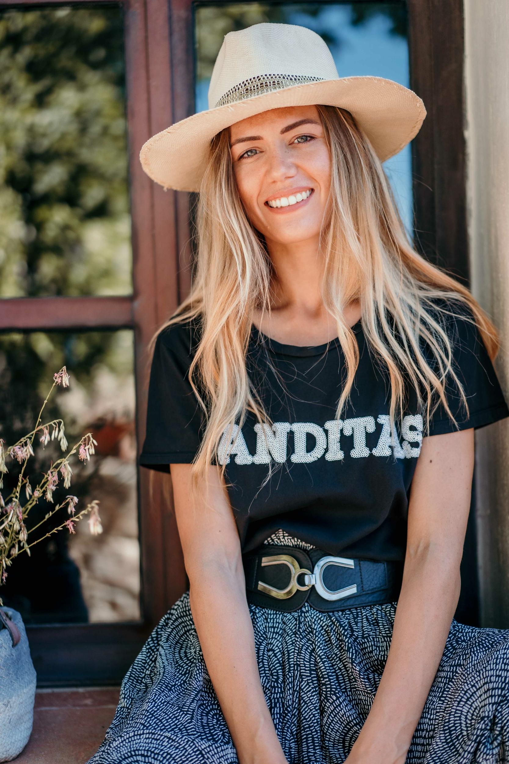 T-shirt CRUZ mc noir/blanc Banditas
