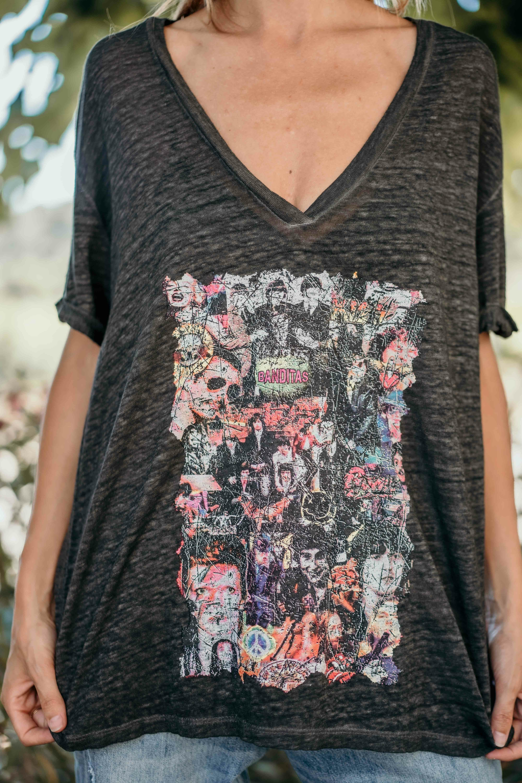 T-shirt KARIS manches courtes anthracite Banditas
