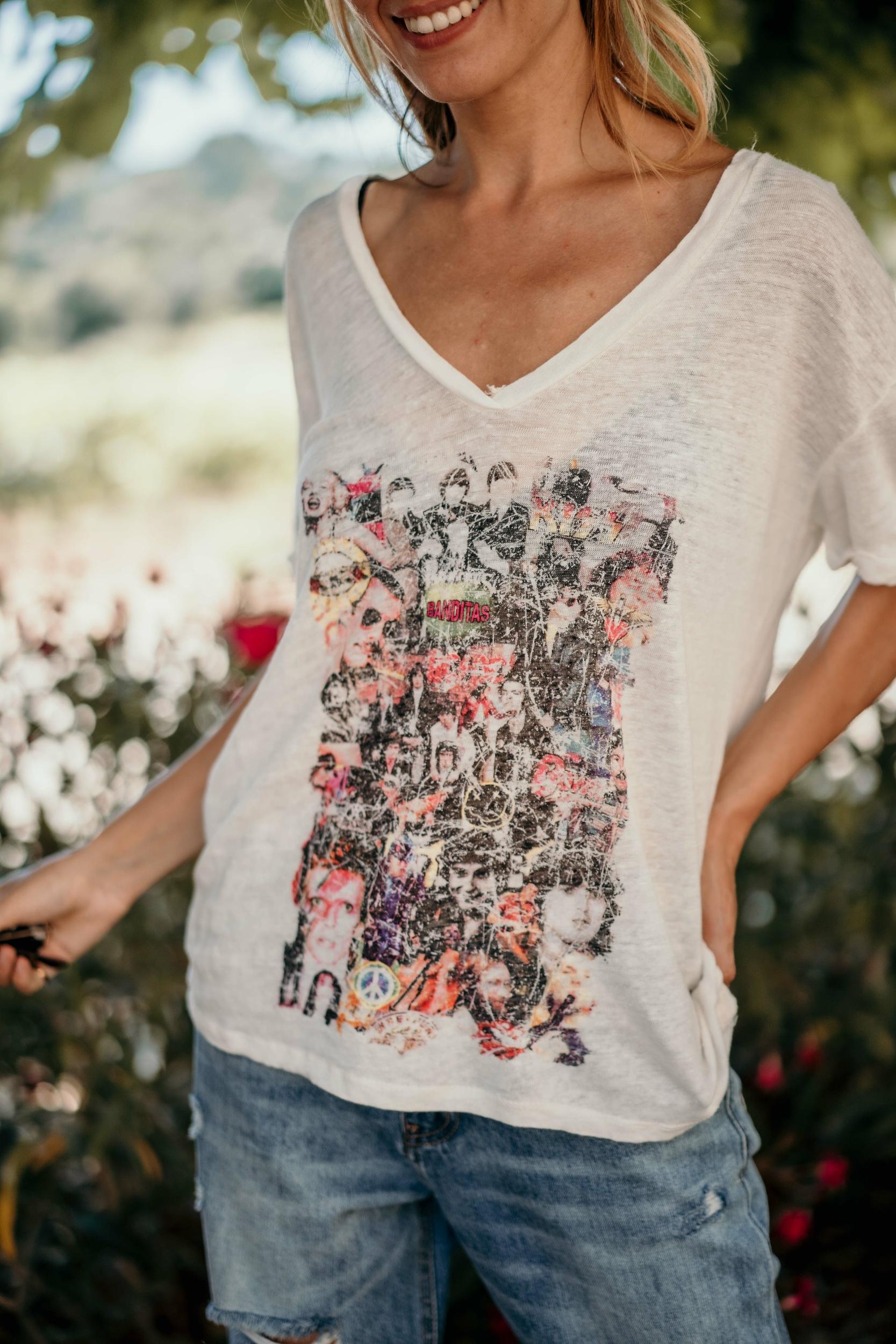 T-shirt KARIS manches courtes écru Banditas