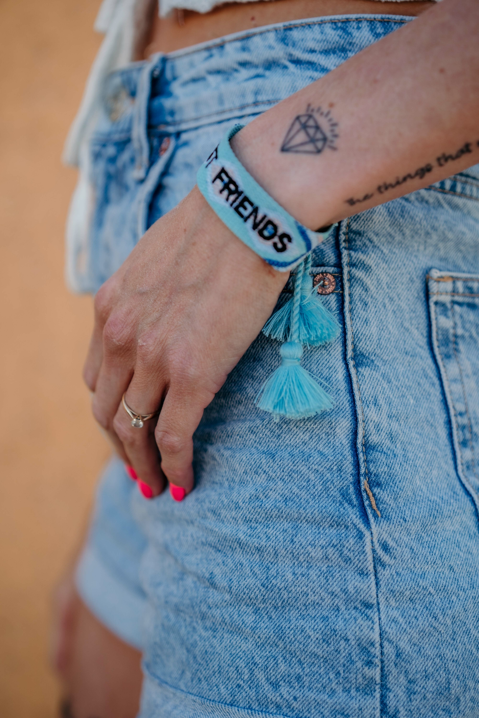 Bracelet FRIENDS bleu
