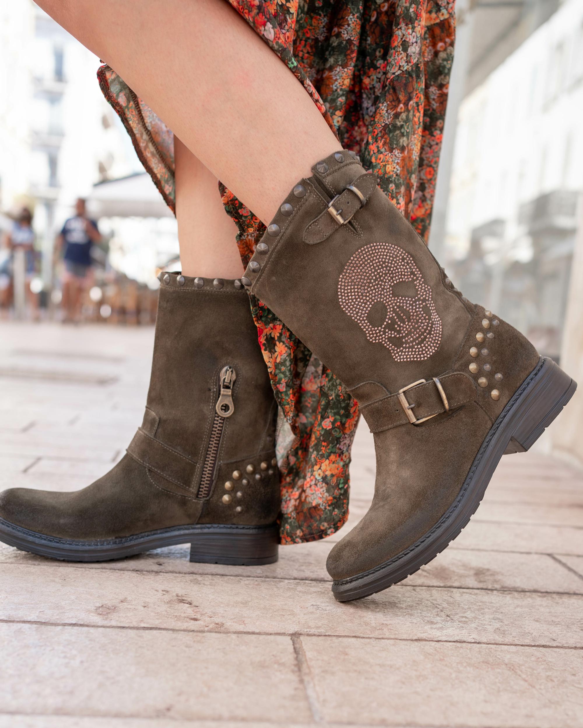 Bottines louisiane kaki Chantal B