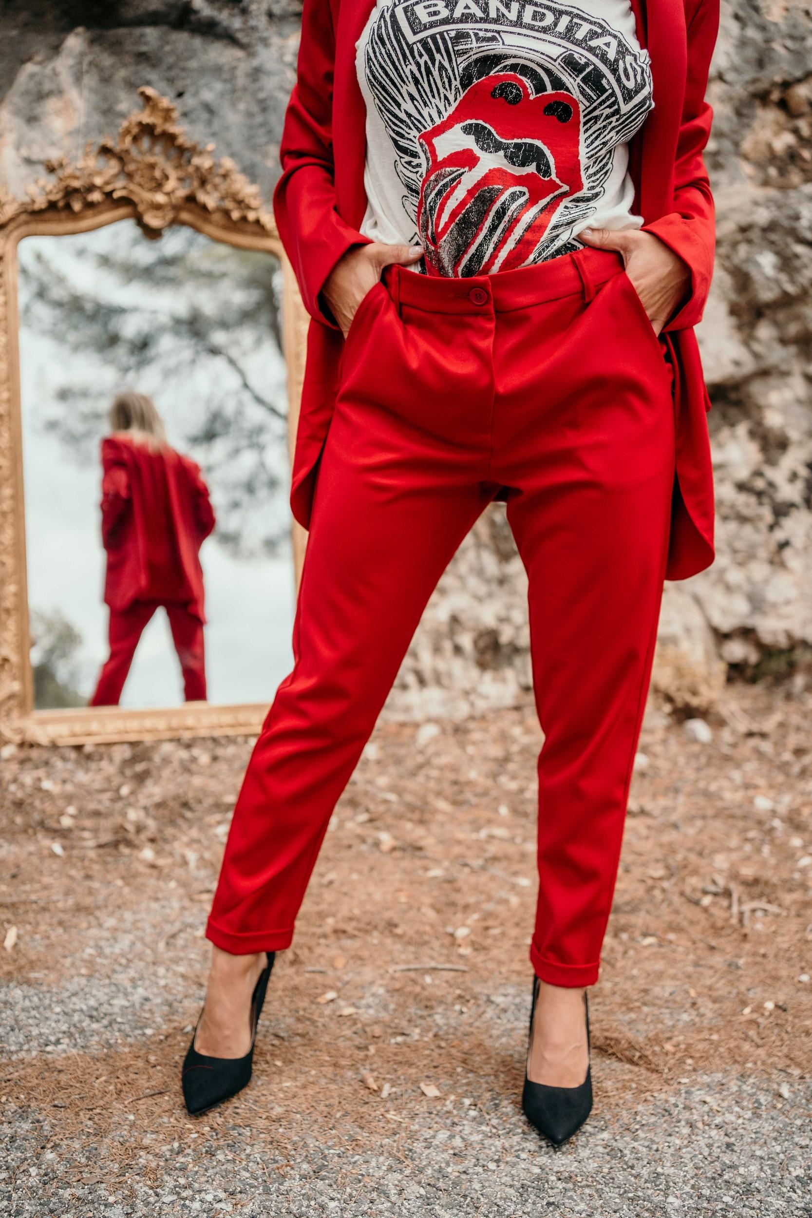Pantalon JAMIE rouge Banditas