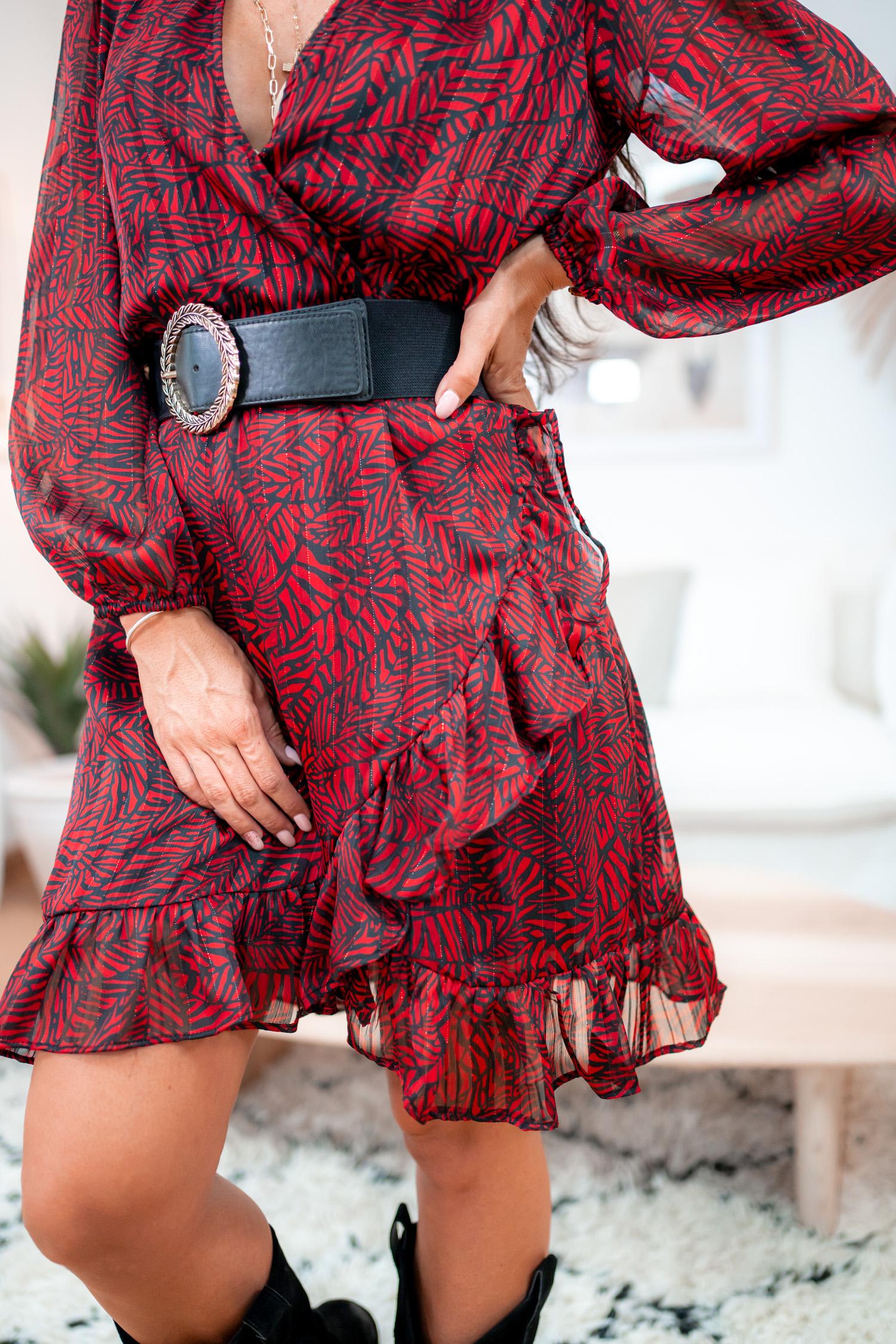 Robe TATIANA courte rouge