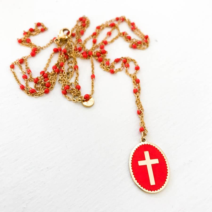 Collier CHRISTI corail