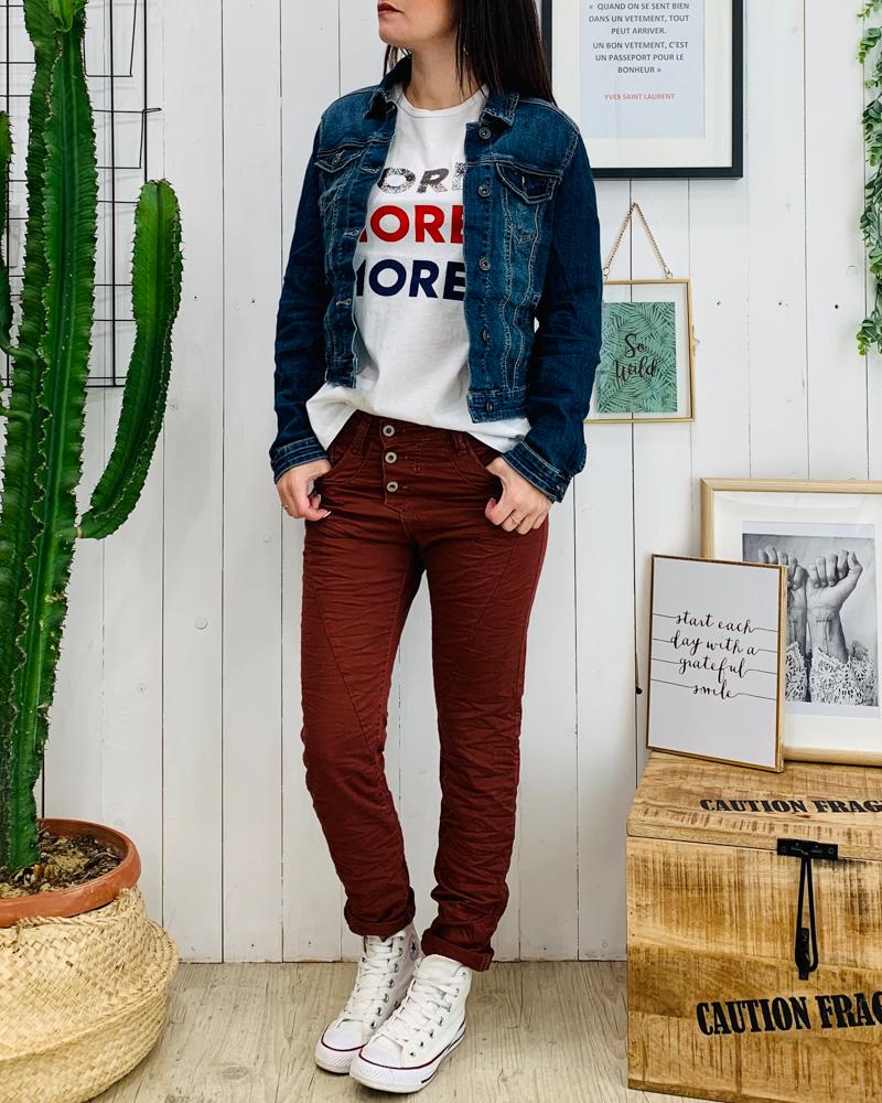 Pantalon P78 rouge brun
